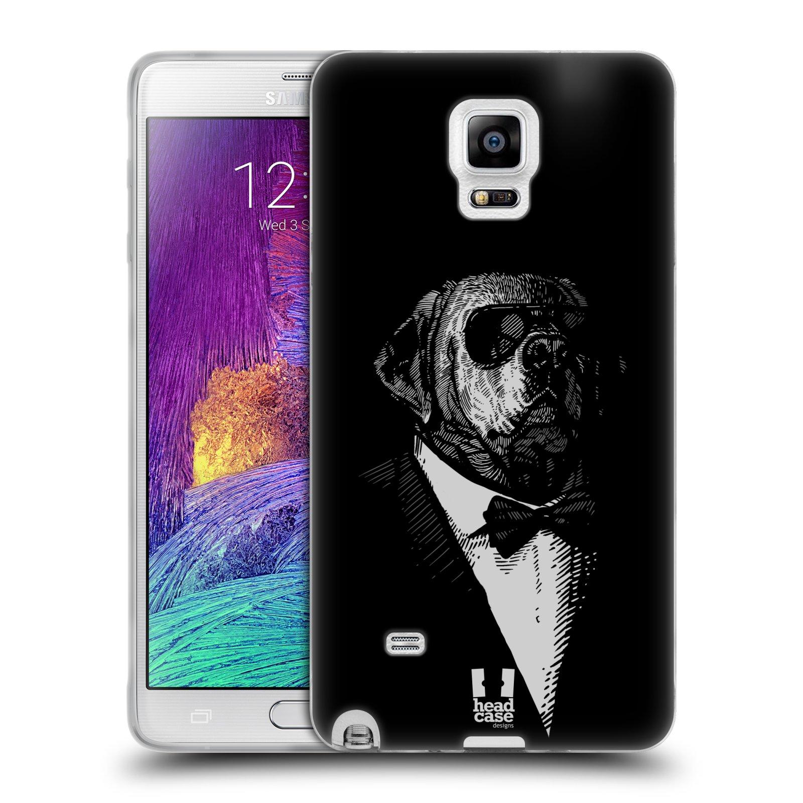 HEAD CASE silikonový obal na mobil Samsung Galaxy Note 4 (N910) vzor Zvíře v obleku pes