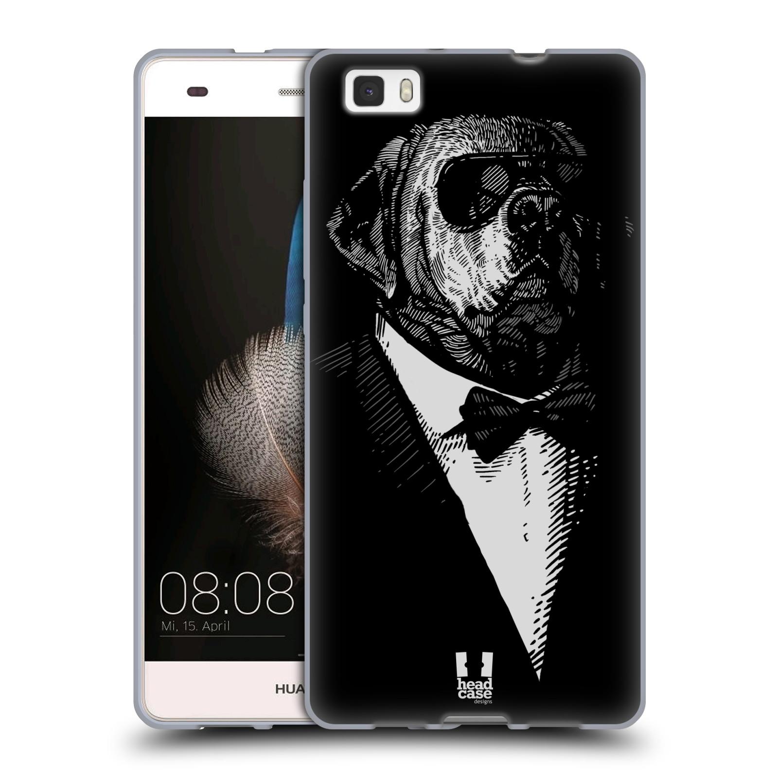 HEAD CASE silikonový obal na mobil HUAWEI P8 LITE vzor Zvíře v obleku pes