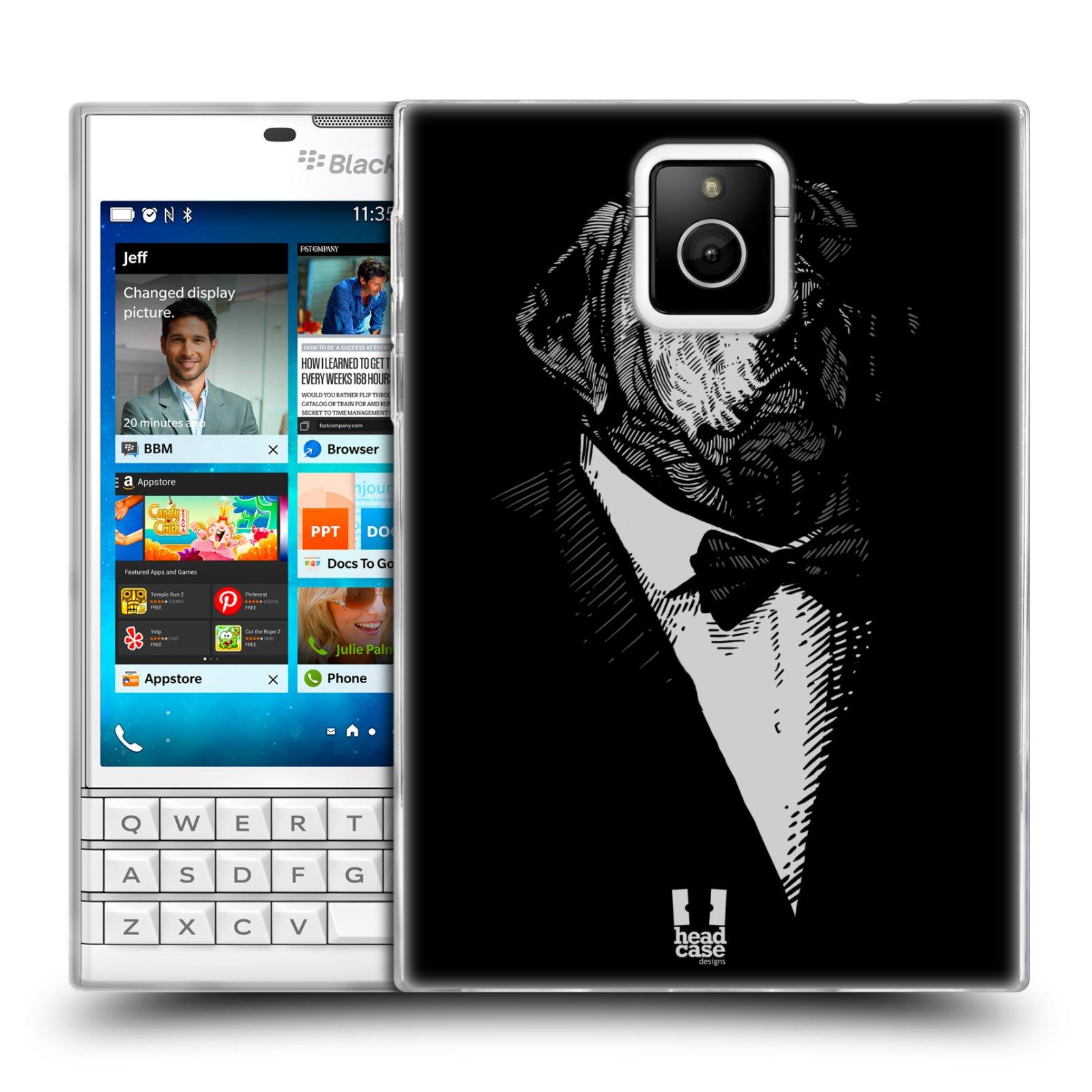HEAD CASE silikonový obal na mobil Blackberry PASSPORT vzor Zvíře v obleku pes