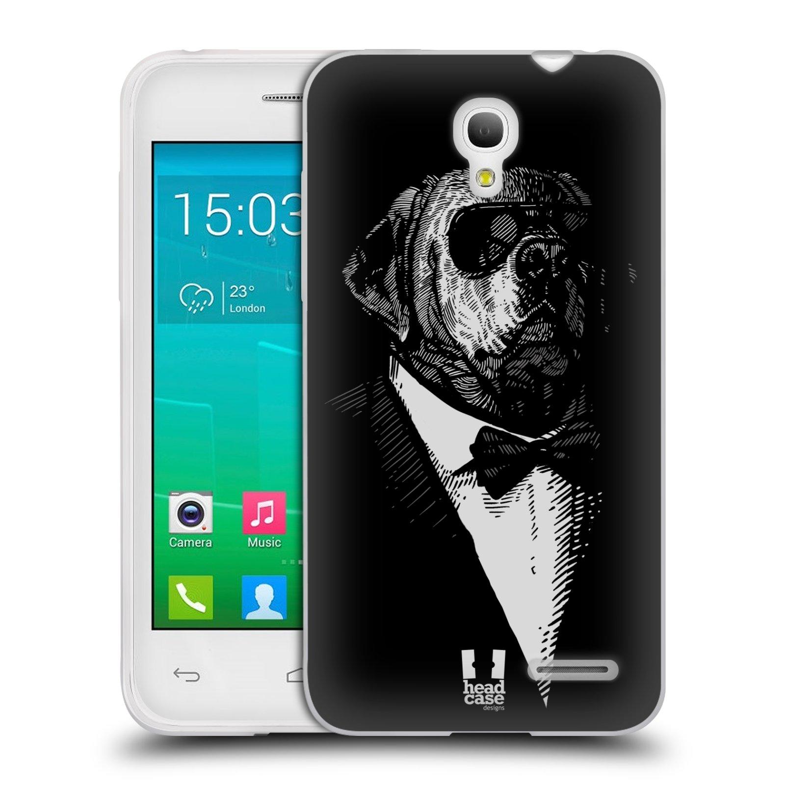 HEAD CASE silikonový obal na mobil Alcatel POP S3 OT-5050Y vzor Zvíře v obleku pes