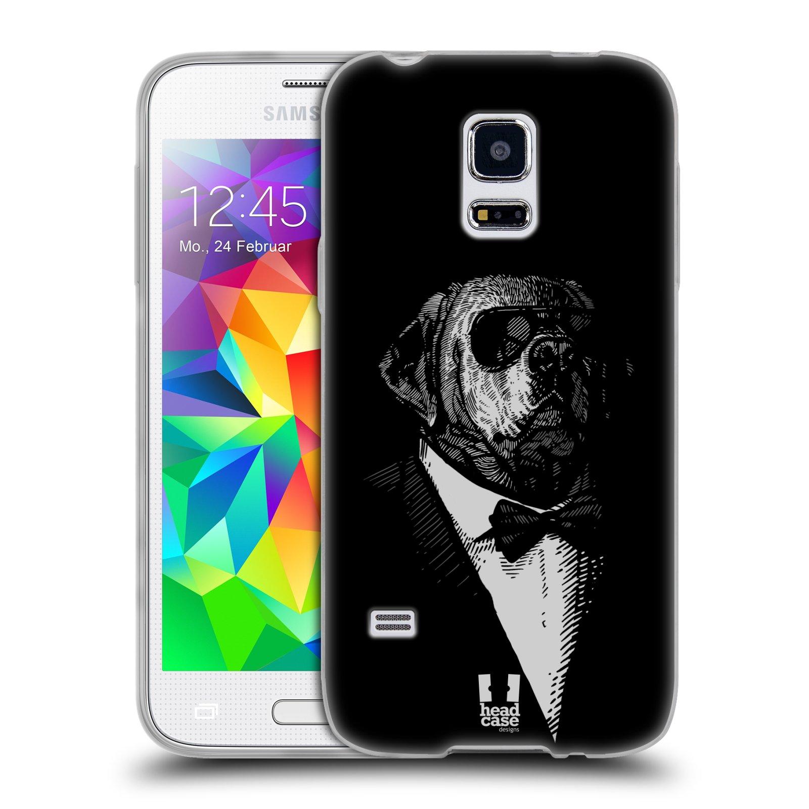HEAD CASE silikonový obal na mobil Samsung Galaxy S5 MINI vzor Zvíře v obleku pes