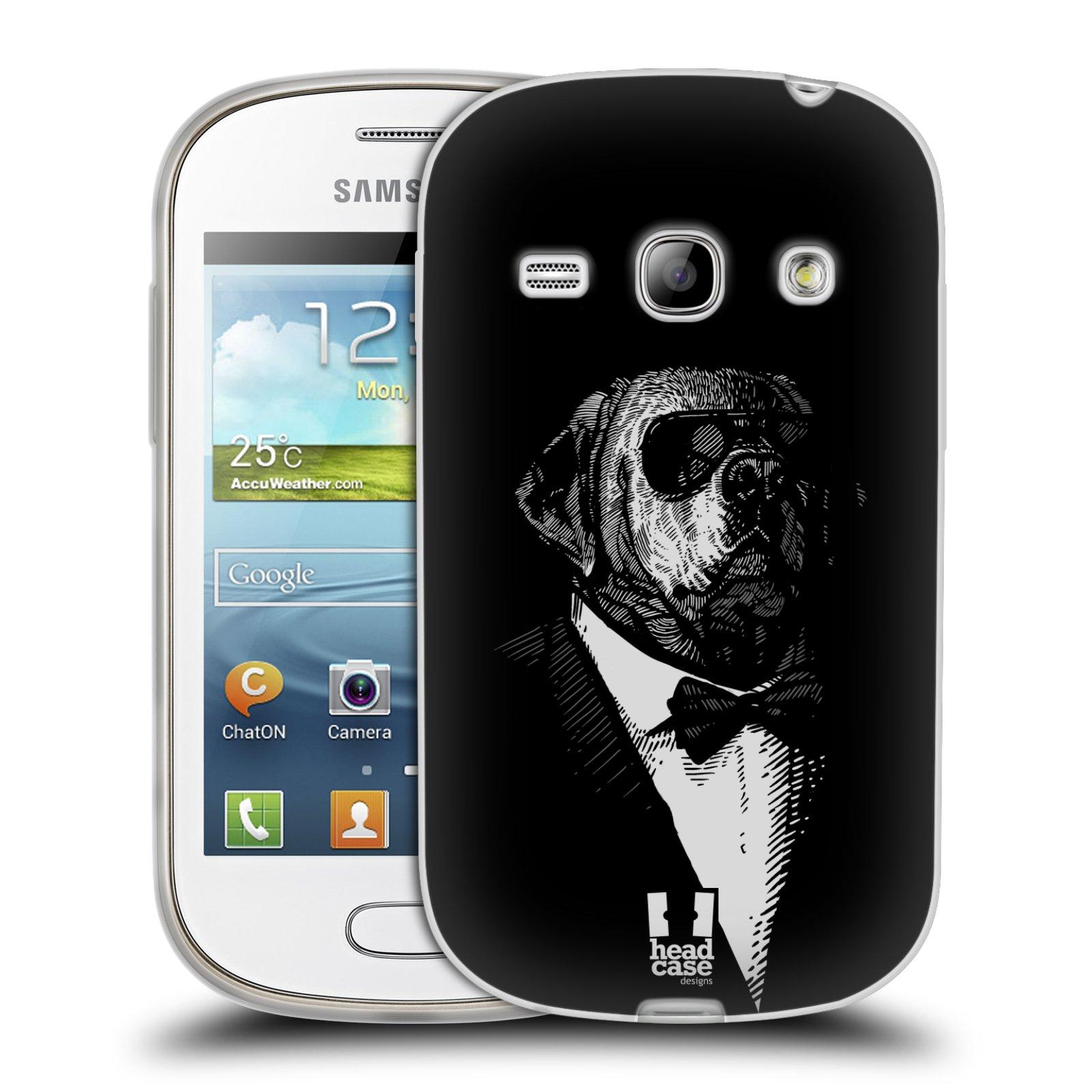 HEAD CASE silikonový obal na mobil Samsung Galaxy FAME vzor Zvíře v obleku pes