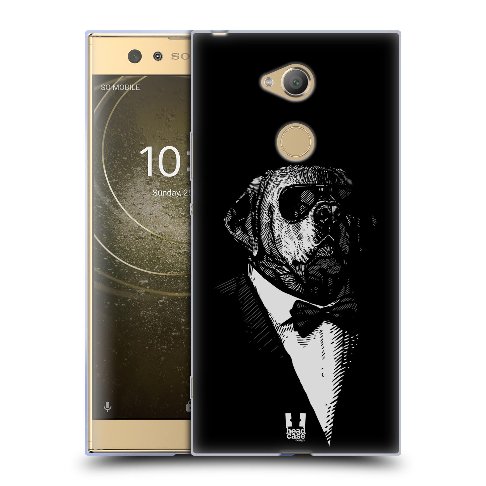 Pouzdro na mobil Sony Xperia XA2 Ultra vzor Zvíře v obleku pes