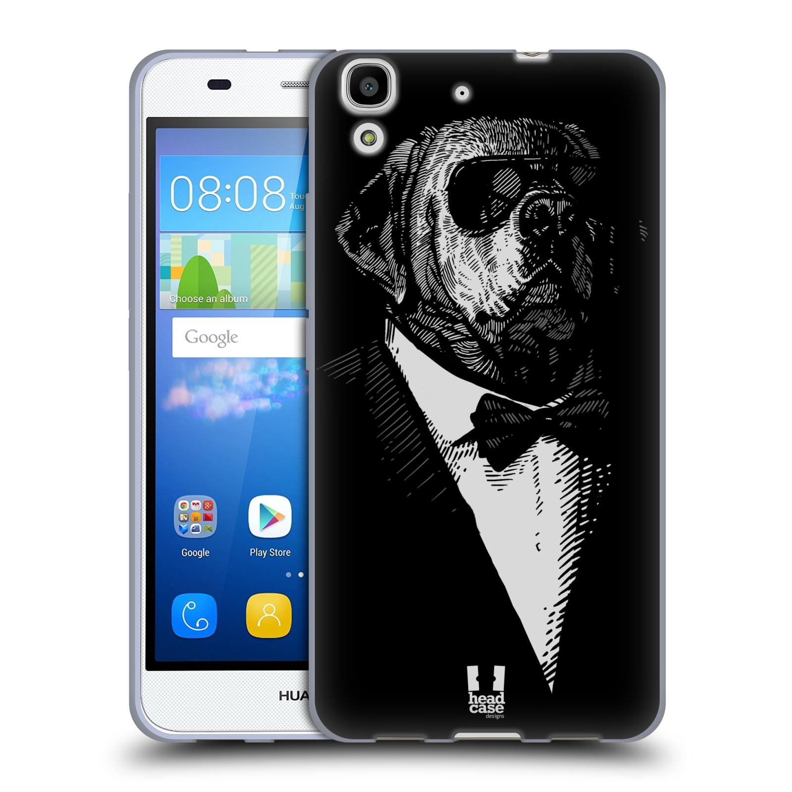 HEAD CASE silikonový obal na mobil HUAWEI Y6 vzor Zvíře v obleku pes
