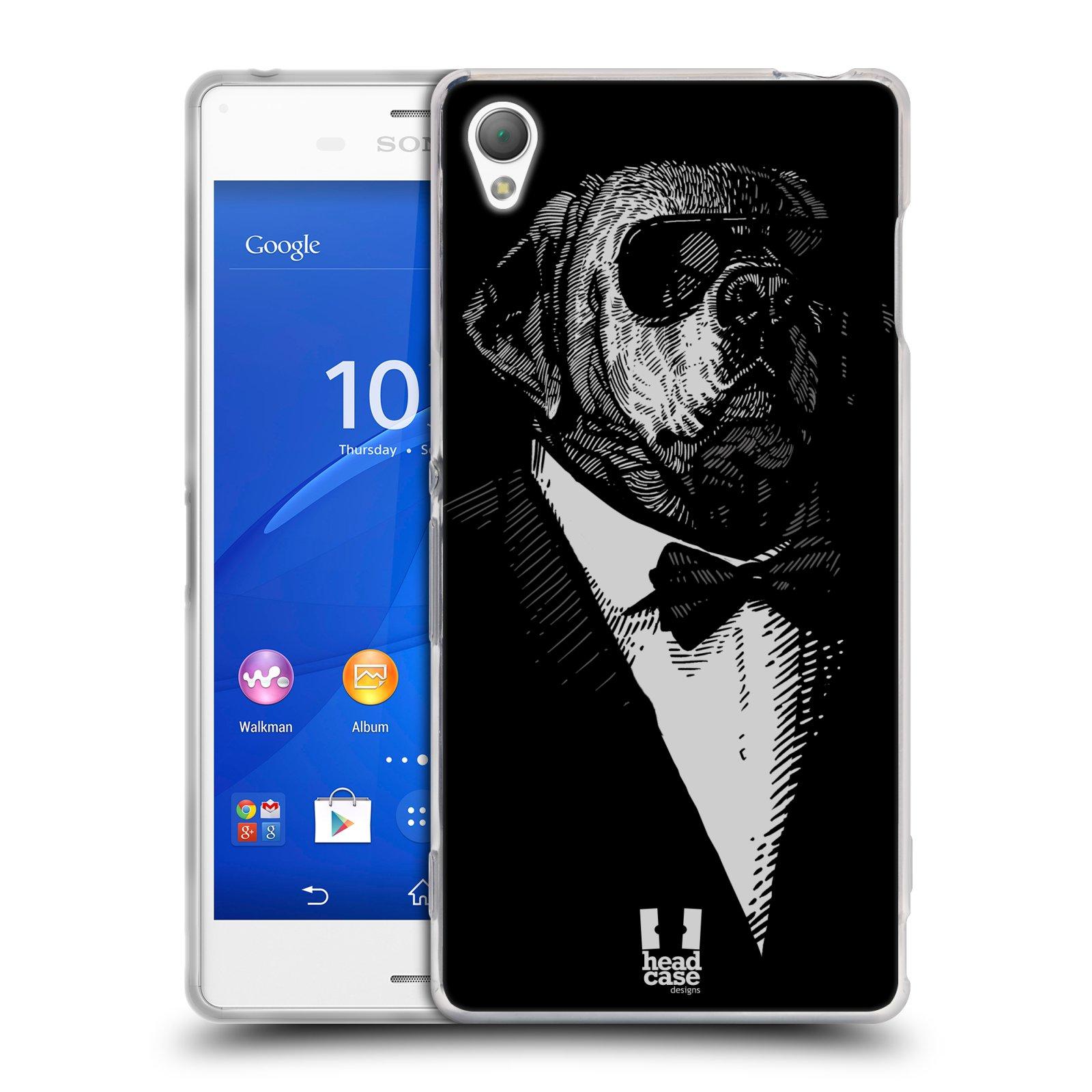 HEAD CASE silikonový obal na mobil Sony Xperia Z3 vzor Zvíře v obleku pes