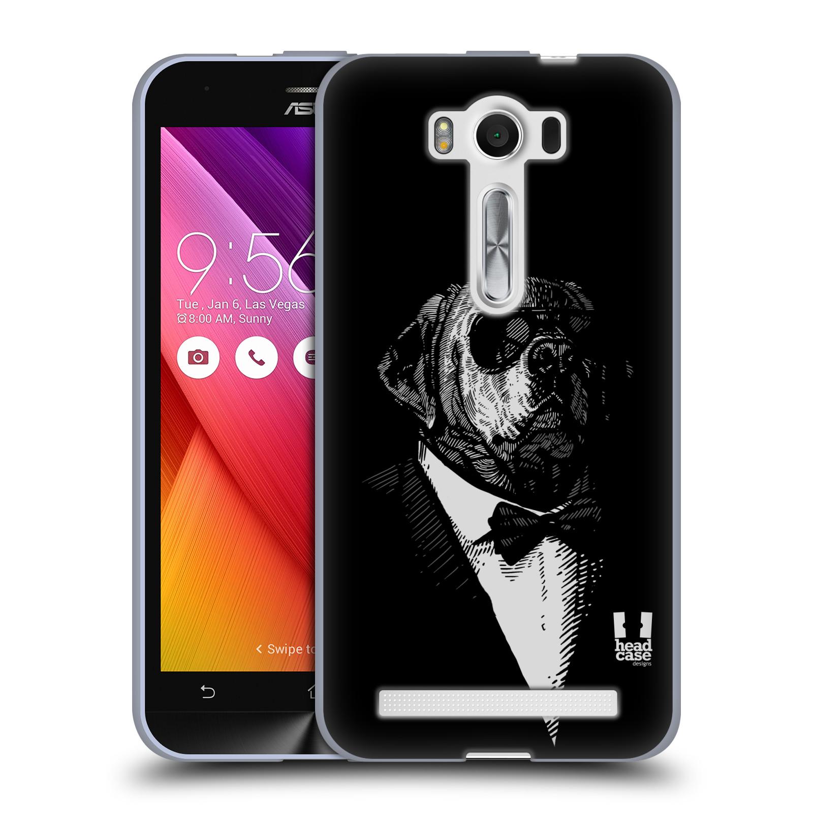 """HEAD CASE silikonový obal na mobil Asus Zenfone 2 LASER (ZE500KL s 5"""" displejem) vzor Zvíře v obleku pes"""