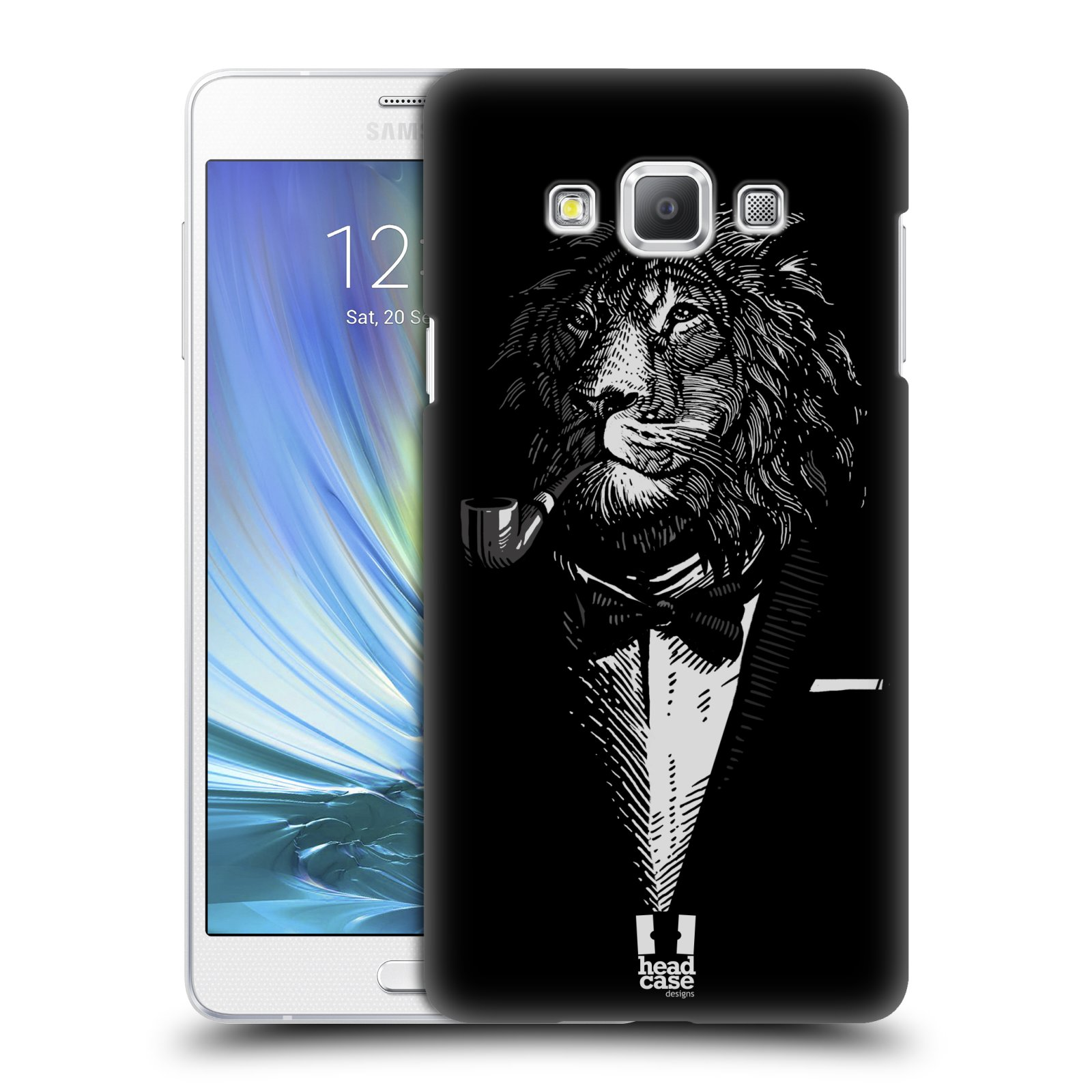 HEAD CASE plastový obal na mobil SAMSUNG GALAXY A7 vzor Zvíře v obleku lev