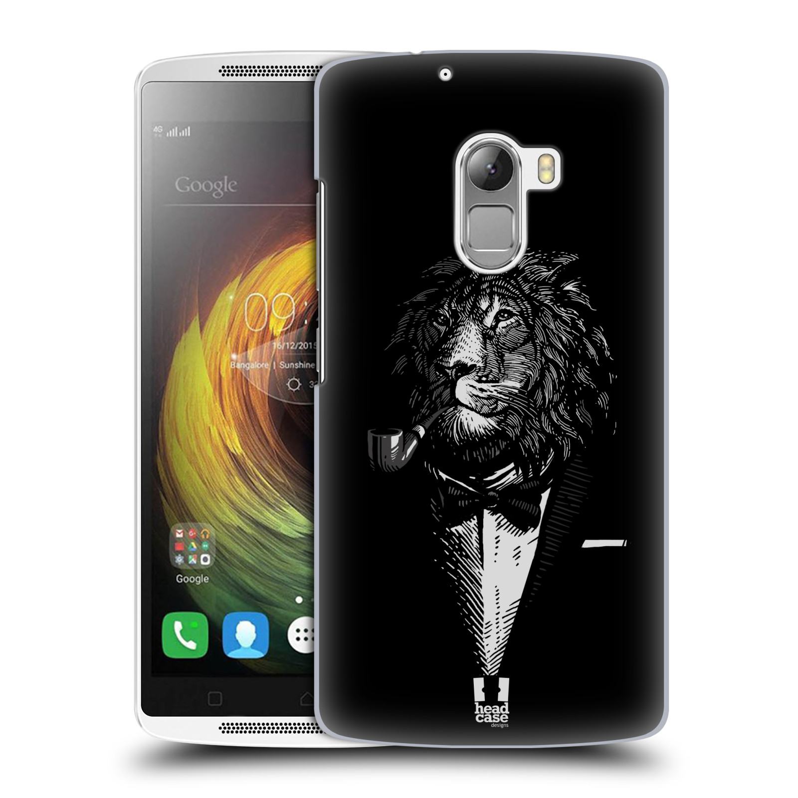 HEAD CASE pevný plastový obal na mobil LENOVO A7010 / A7010 DUAL / K4 Note / Vibe X3 lite vzor Zvíře v obleku lev