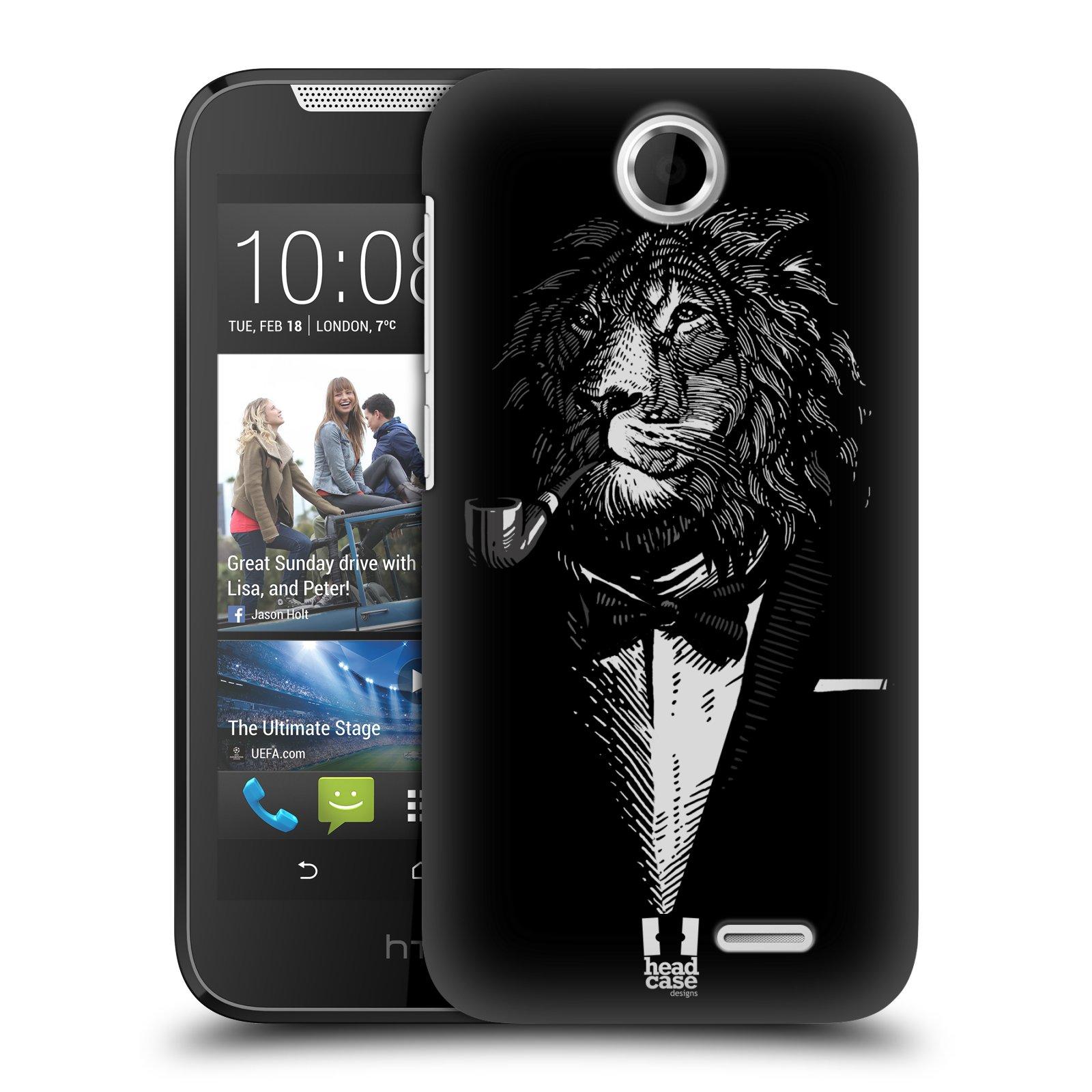 HEAD CASE plastový obal na mobil HTC Desire 310 vzor Zvíře v obleku lev