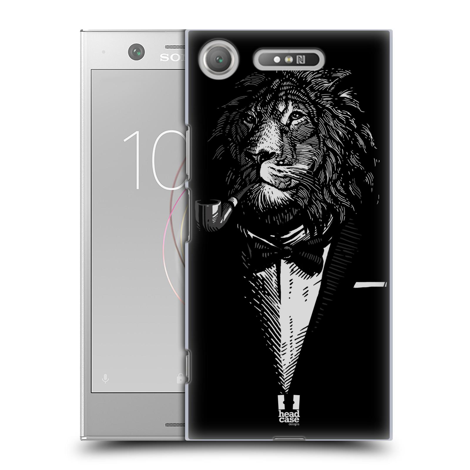 HEAD CASE plastový obal na mobil Sony Xperia XZ1 vzor Zvíře v obleku lev