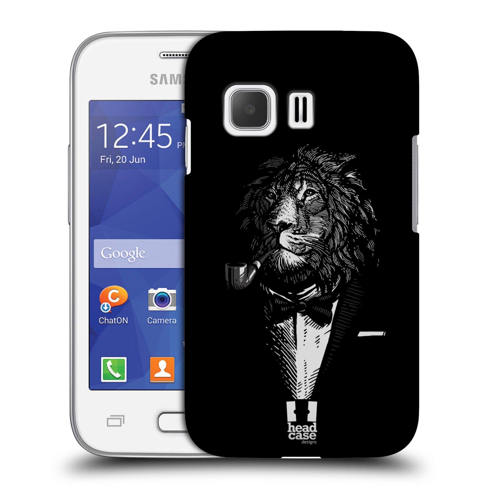 HEAD CASE plastový obal na mobil SAMSUNG Galaxy Young 2 (G130) vzor Zvíře v obleku lev
