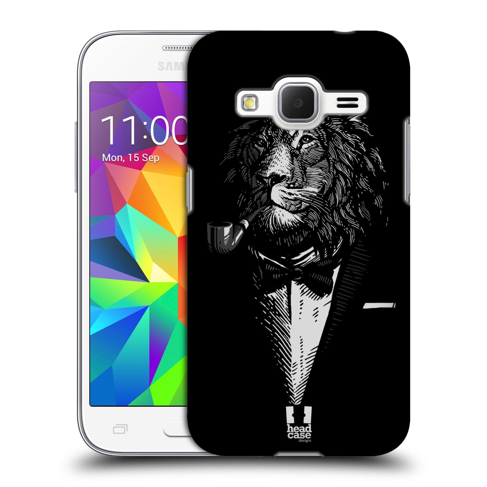 HEAD CASE plastový obal na mobil SAMSUNG GALAXY Core Prime (Core Prime VE) vzor Zvíře v obleku lev