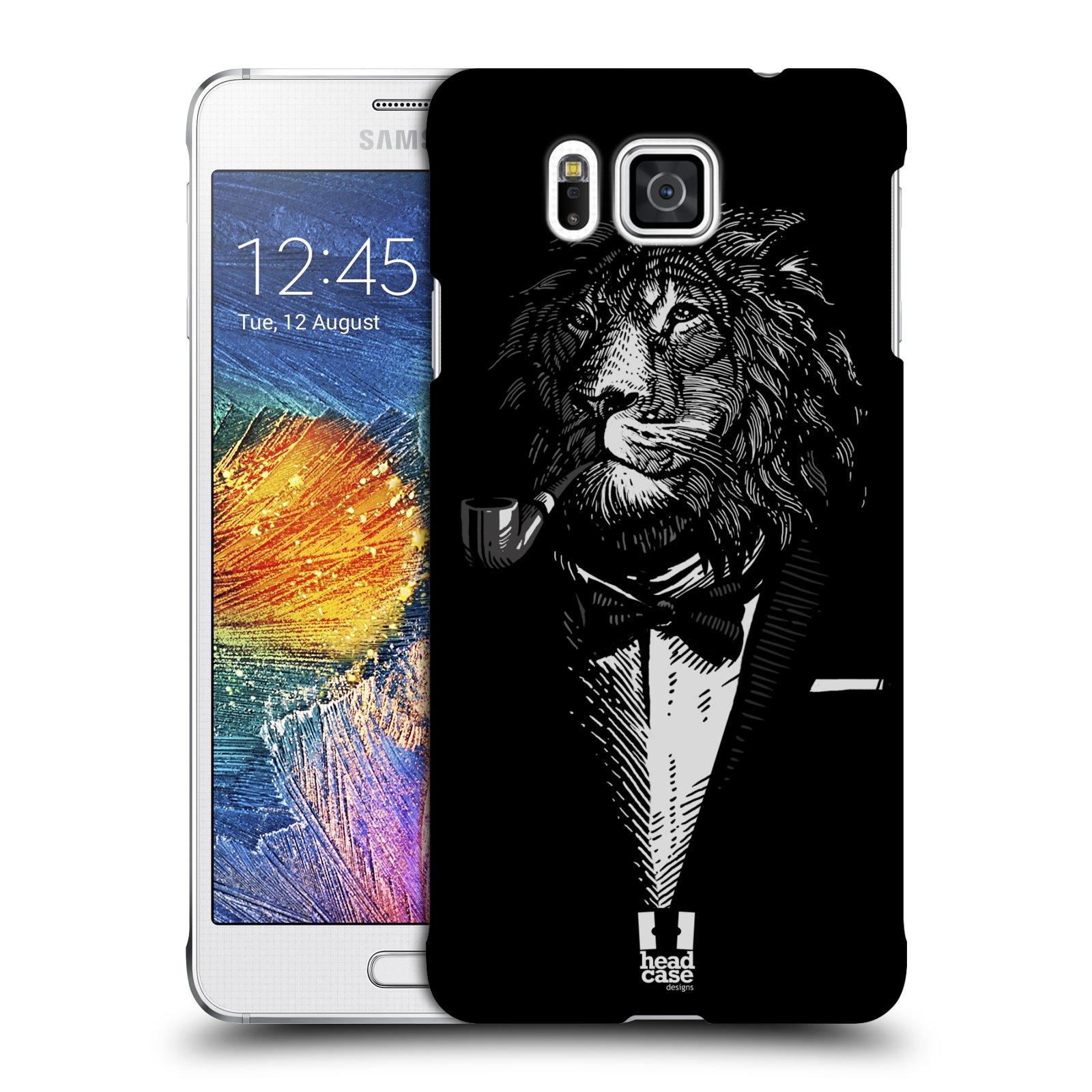 HEAD CASE plastový obal na mobil SAMSUNG Galaxy Alpha (G850) vzor Zvíře v obleku lev