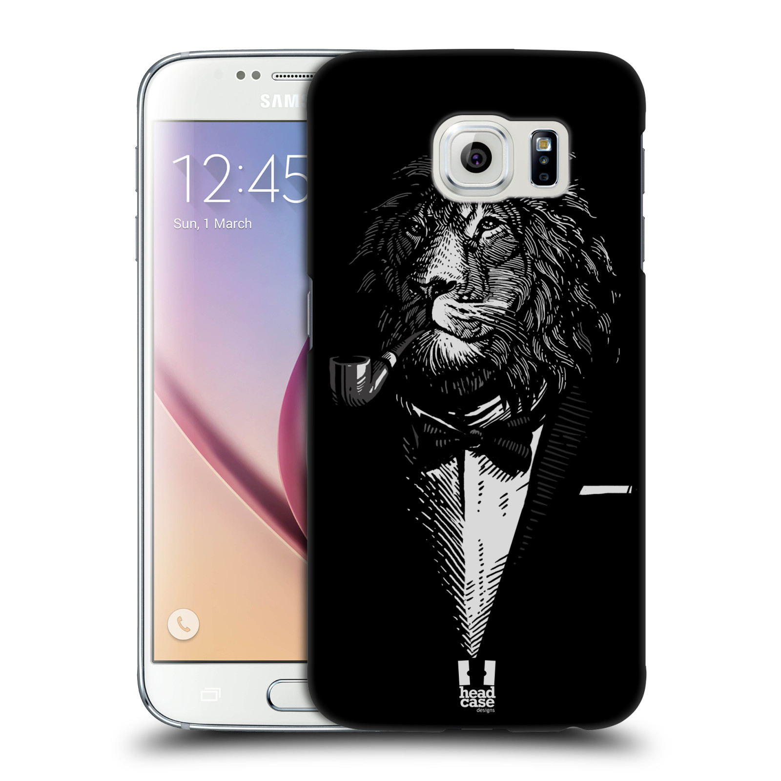HEAD CASE plastový obal na mobil SAMSUNG Galaxy S6 (G9200, G920F) vzor Zvíře v obleku lev