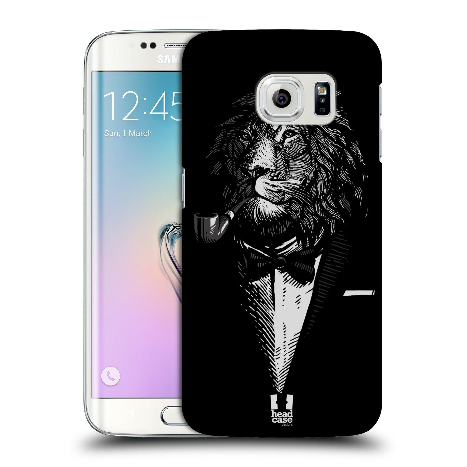 HEAD CASE plastový obal na mobil SAMSUNG Galaxy S6 EDGE (G9250, G925, G925F) vzor Zvíře v obleku lev