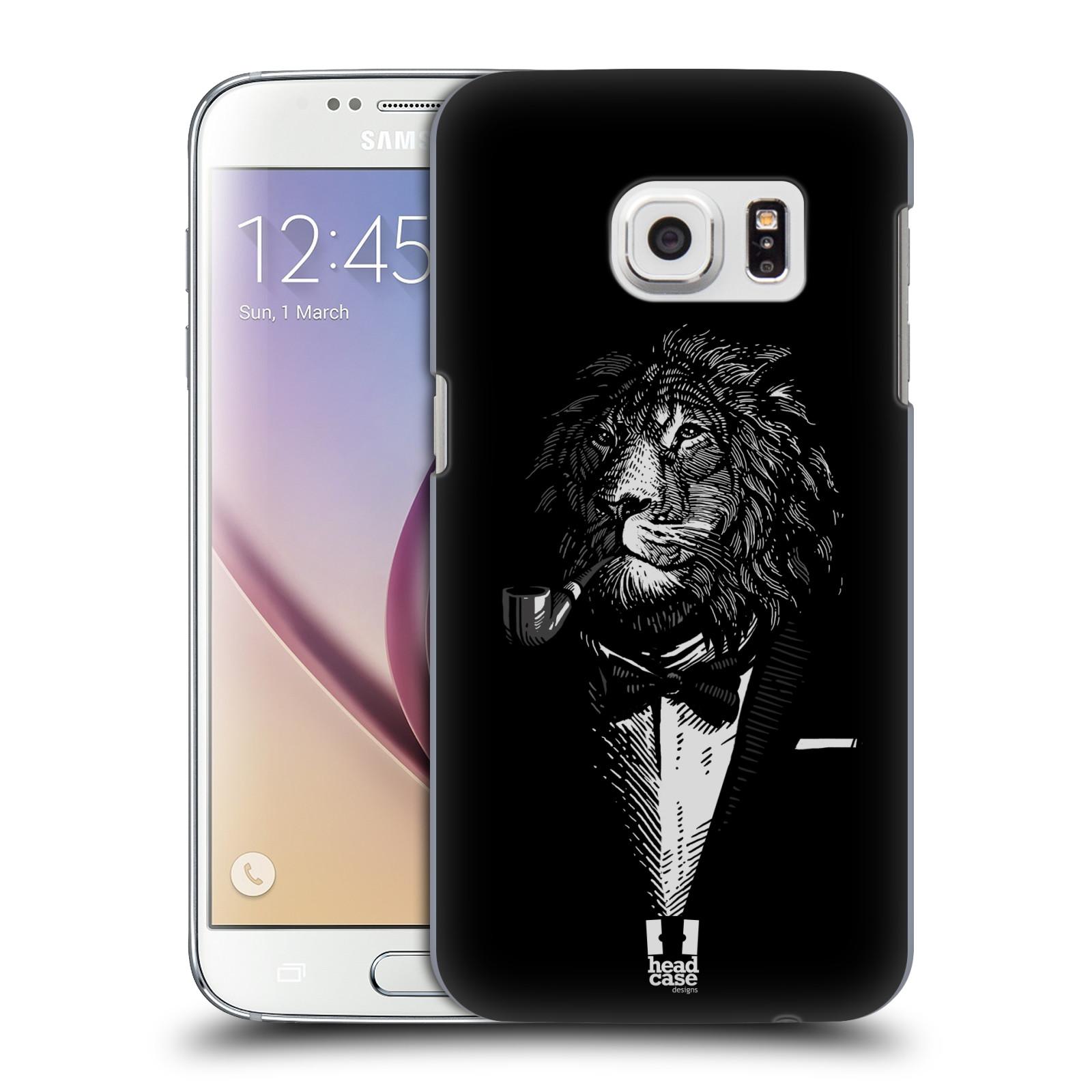 HEAD CASE plastový obal na mobil SAMSUNG GALAXY S7 vzor Zvíře v obleku lev