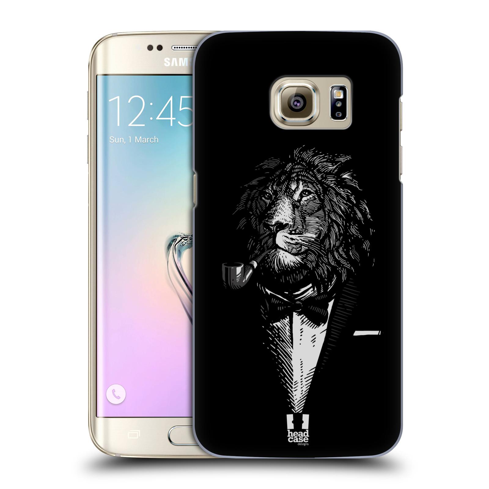 HEAD CASE plastový obal na mobil SAMSUNG GALAXY S7 EDGE vzor Zvíře v obleku lev