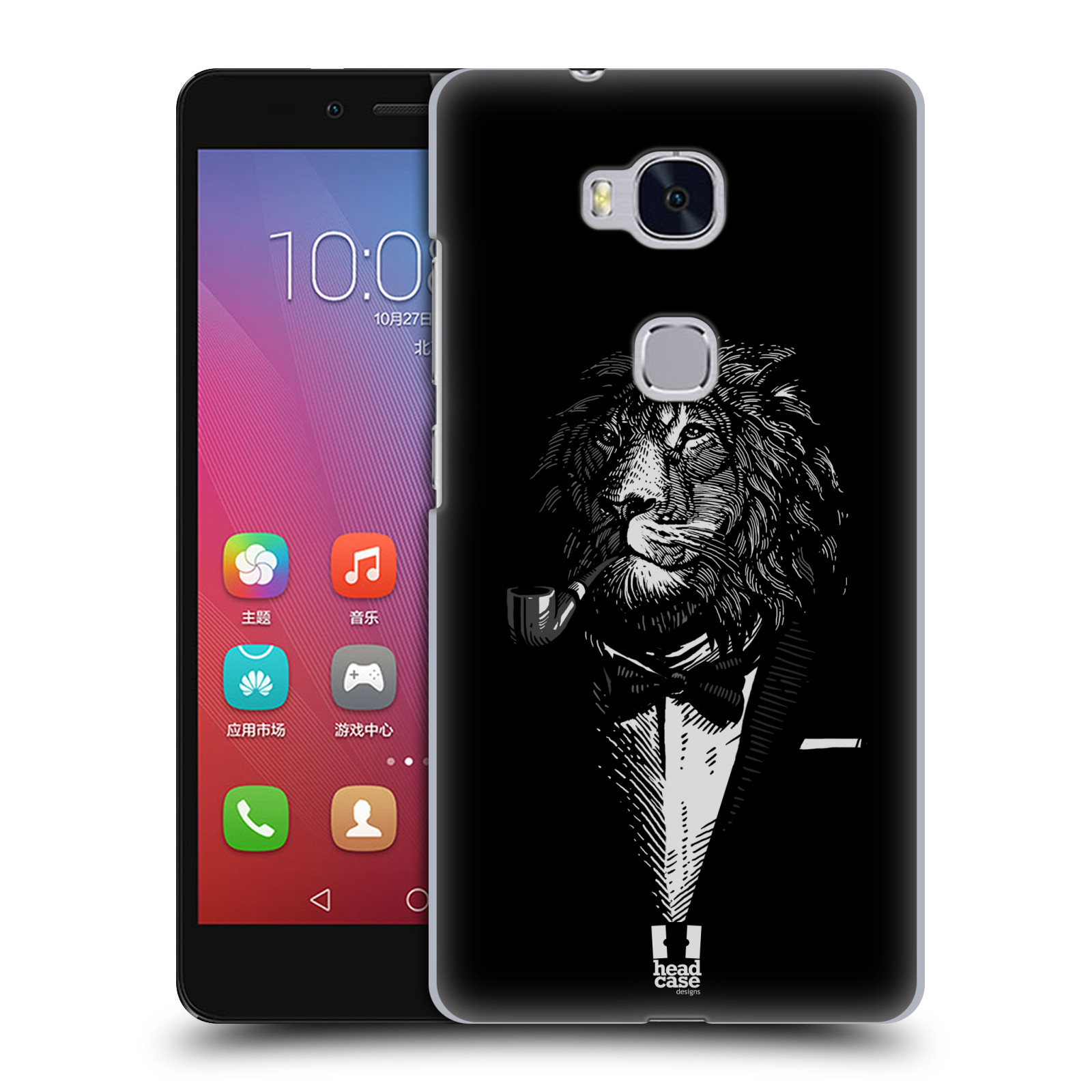 HEAD CASE pevný plastový obal na mobil HUAWEI HONOR 5X vzor Zvíře v obleku lev