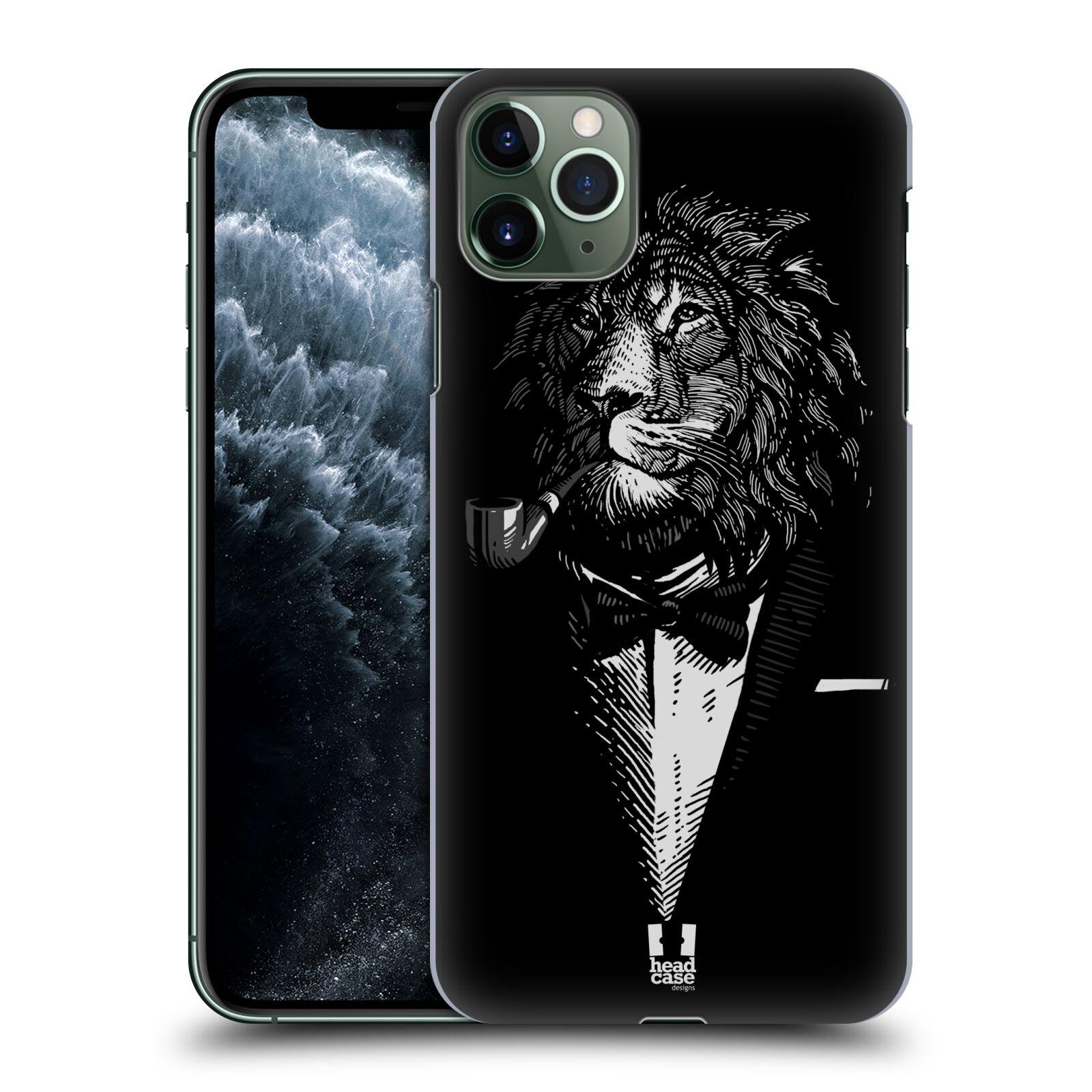 Pouzdro na mobil Apple Iphone 11 PRO MAX - HEAD CASE - vzor Zvíře v obleku lev