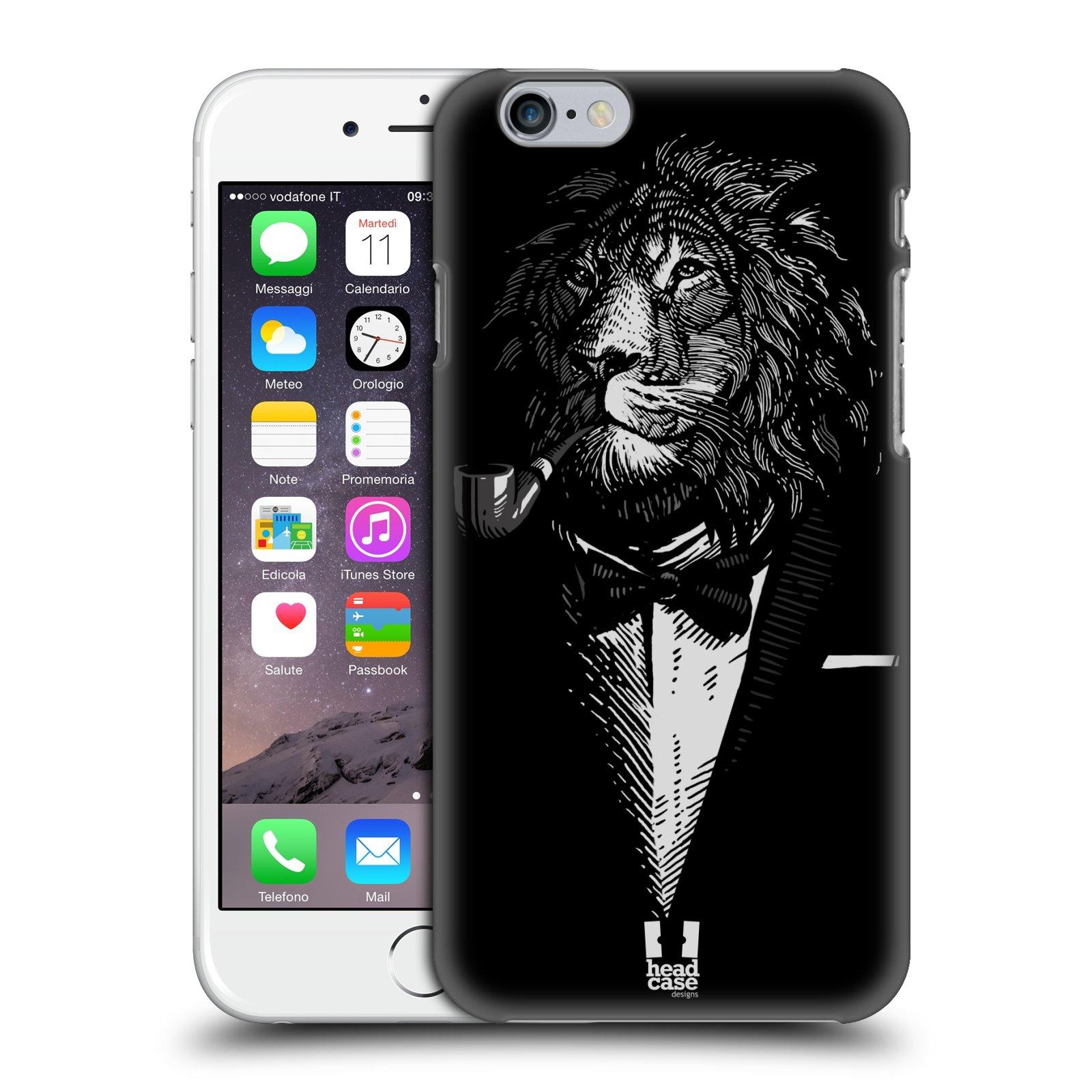 Plastové pouzdro pro mobil Apple Iphone 6/6S vzor Zvíře v obleku lev