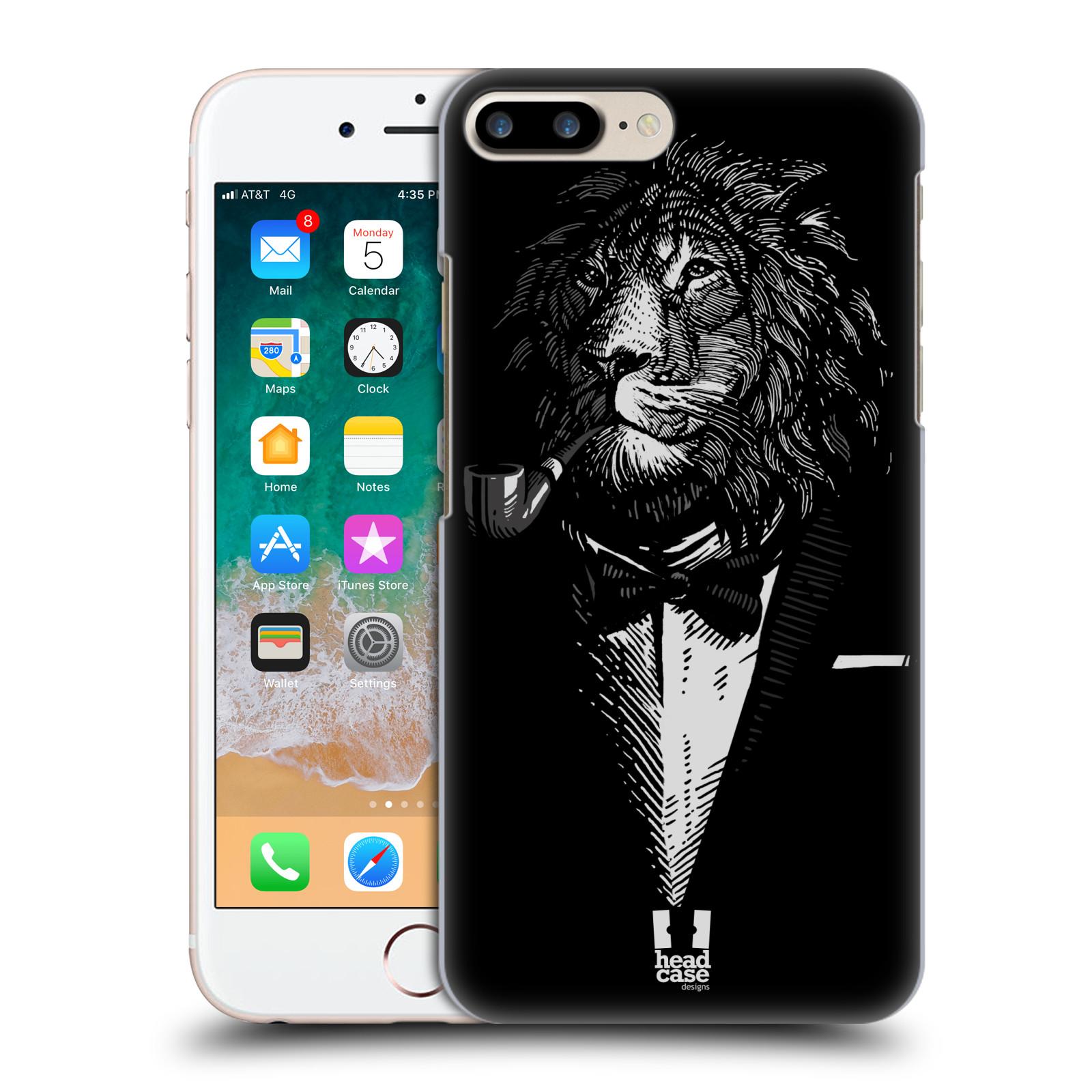 HEAD CASE plastový obal na mobil Apple Iphone 7 PLUS vzor Zvíře v obleku lev