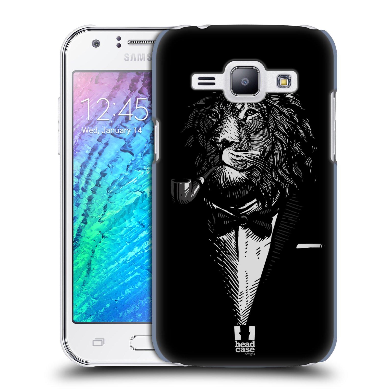 HEAD CASE plastový obal na mobil SAMSUNG Galaxy J1, J100 vzor Zvíře v obleku lev