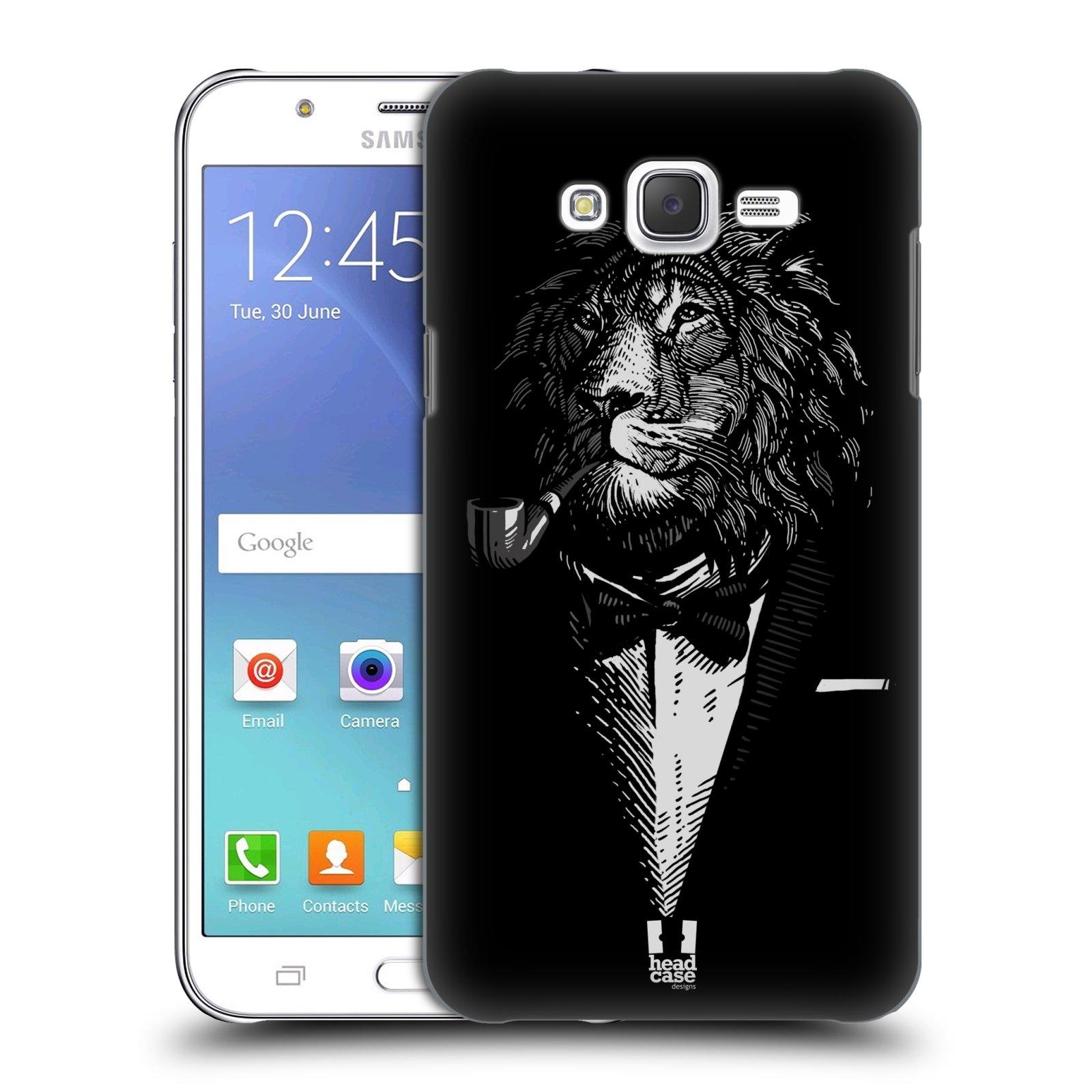HEAD CASE plastový obal na mobil SAMSUNG Galaxy J7, J700 vzor Zvíře v obleku lev