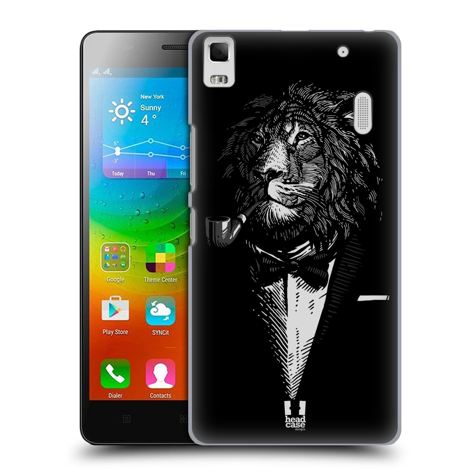 HEAD CASE pevný plastový obal na mobil LENOVO A7000 / A7000 DUAL / K3 NOTE vzor Zvíře v obleku lev