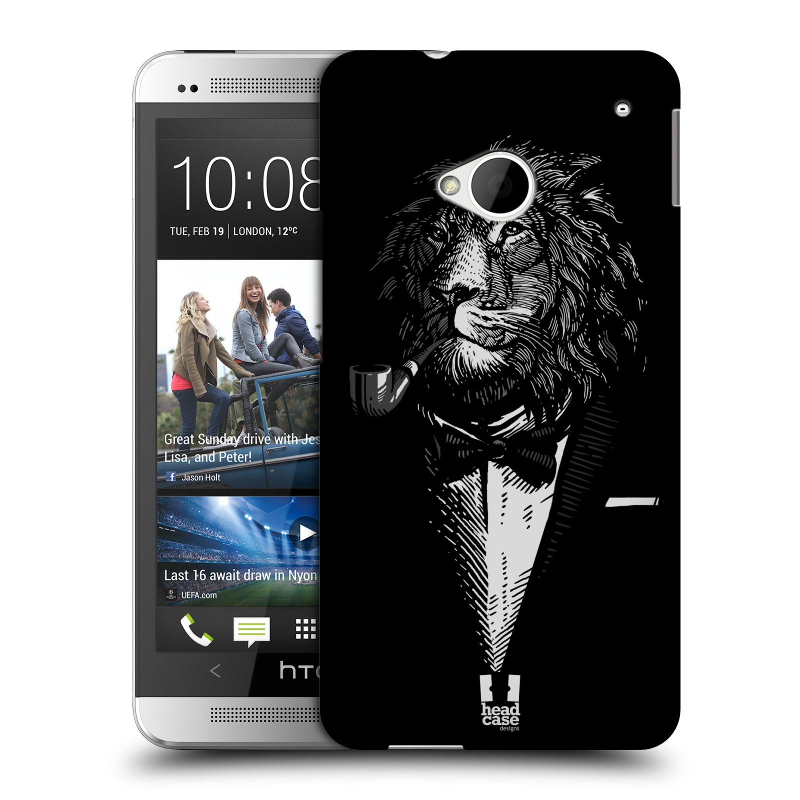 HEAD CASE plastový obal na mobil HTC One (M7) vzor Zvíře v obleku lev