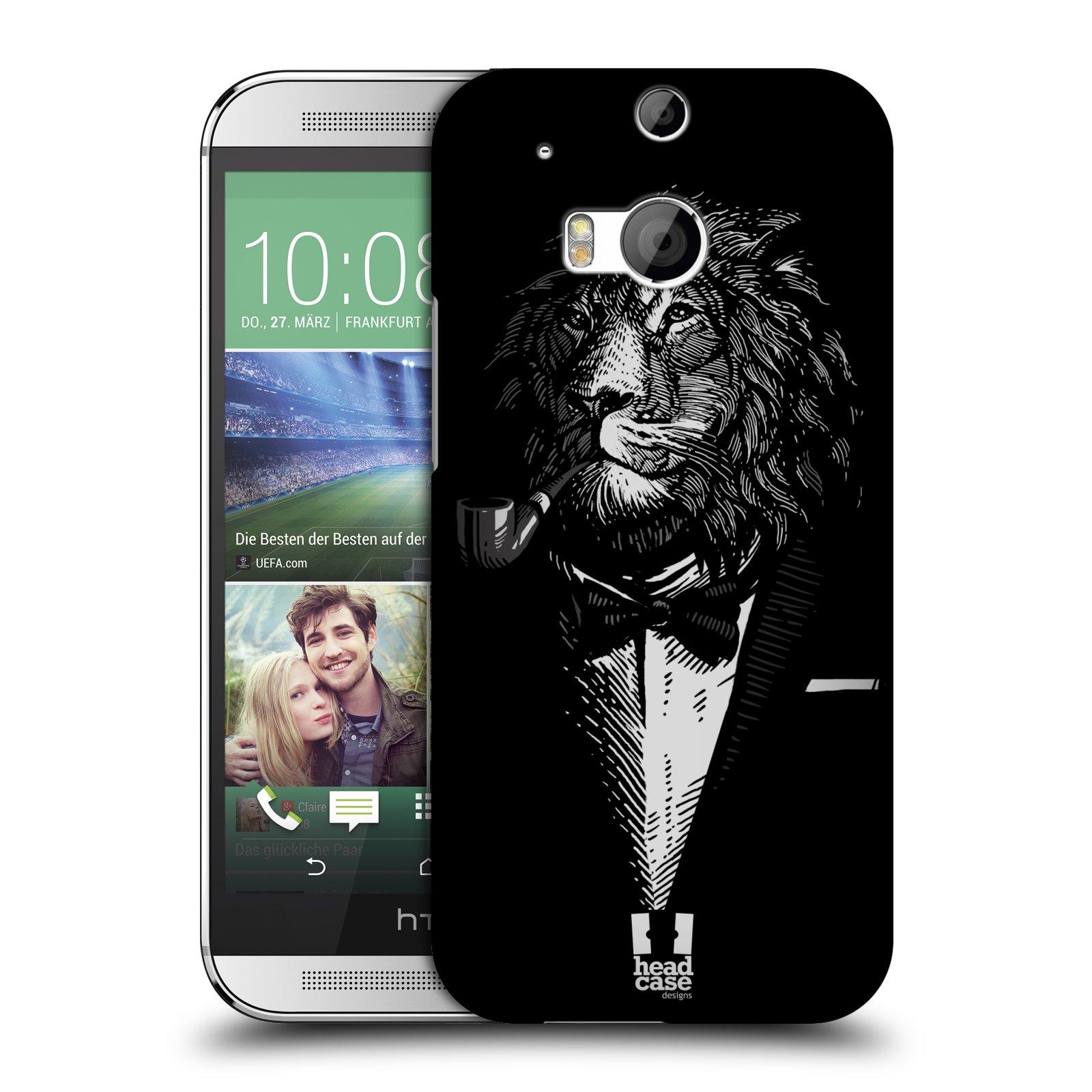 HEAD CASE plastový obal na mobil HTC One M8 / One M8s vzor Zvíře v obleku lev