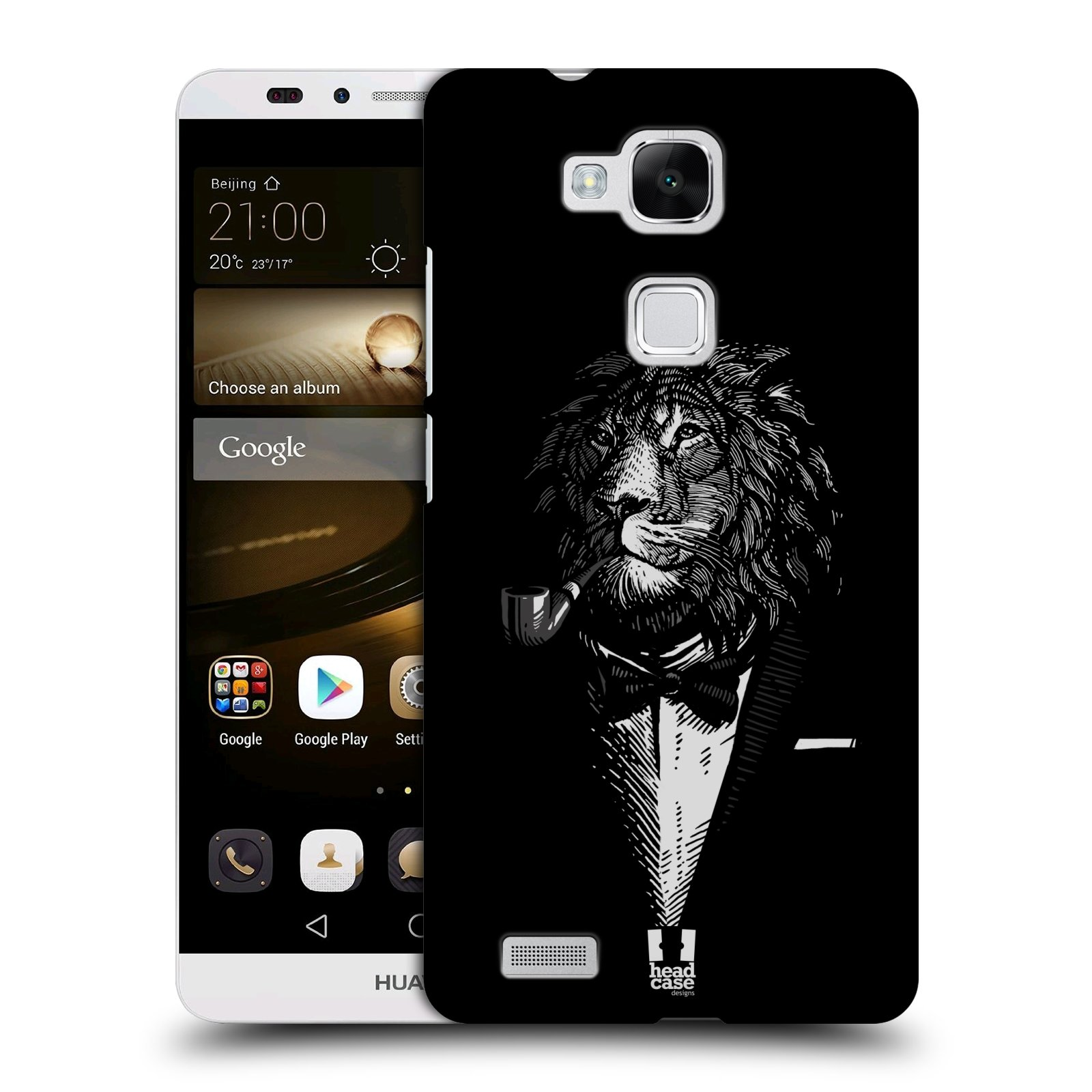 HEAD CASE plastový obal na mobil Huawei Mate 7 vzor Zvíře v obleku lev
