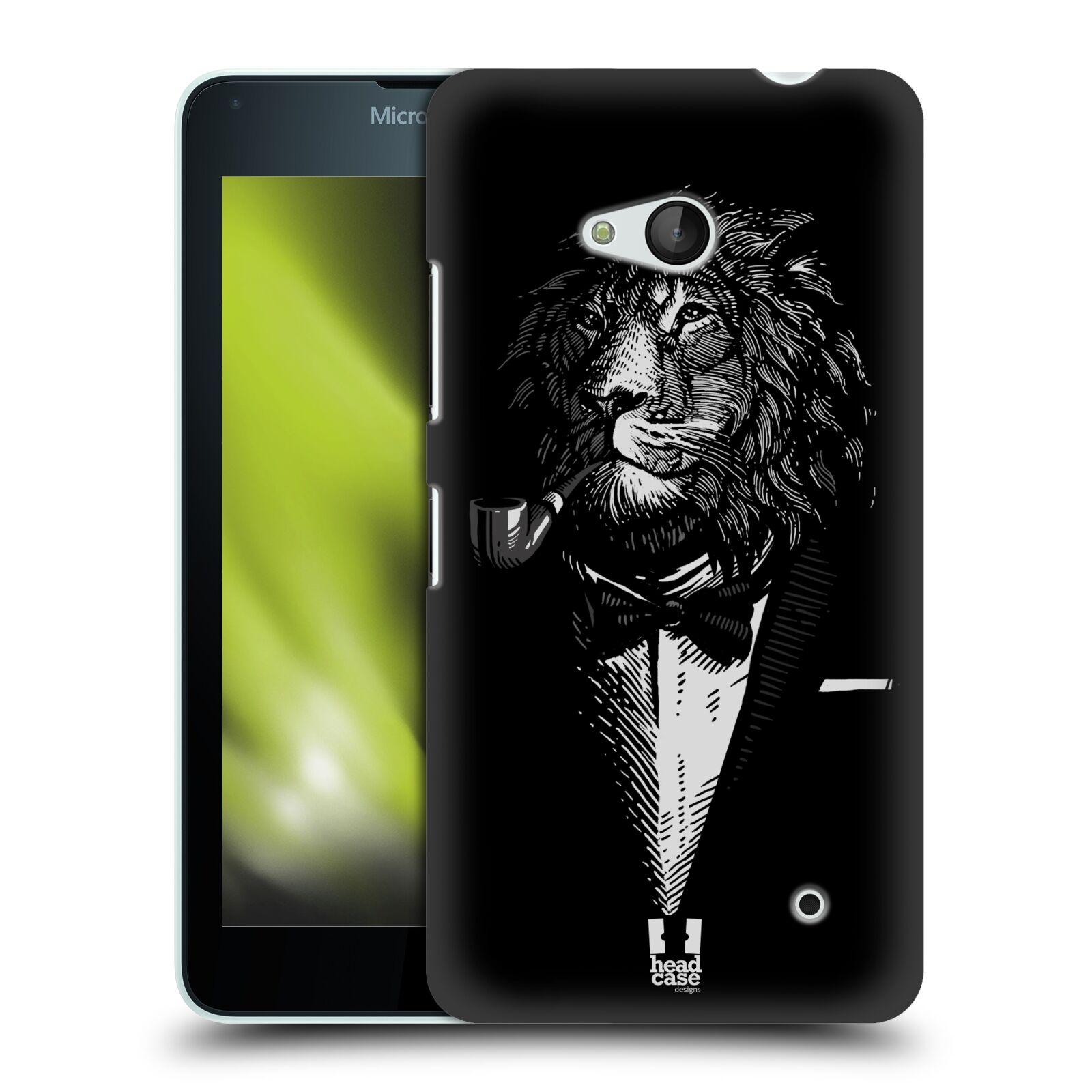 HEAD CASE plastový obal na mobil Nokia Lumia 640 vzor Zvíře v obleku lev