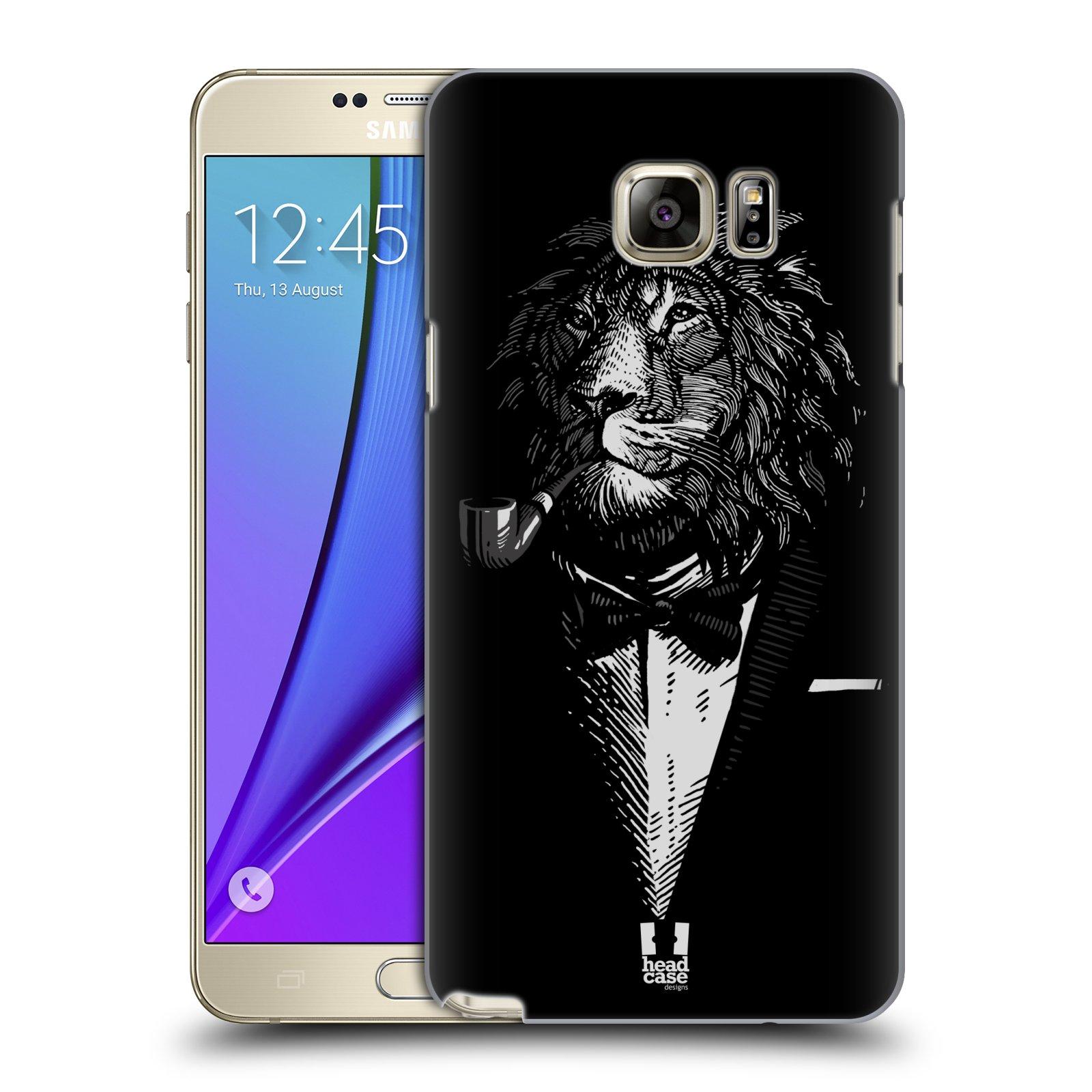 HEAD CASE plastový obal na mobil SAMSUNG Galaxy Note 5 (N920) vzor Zvíře v obleku lev