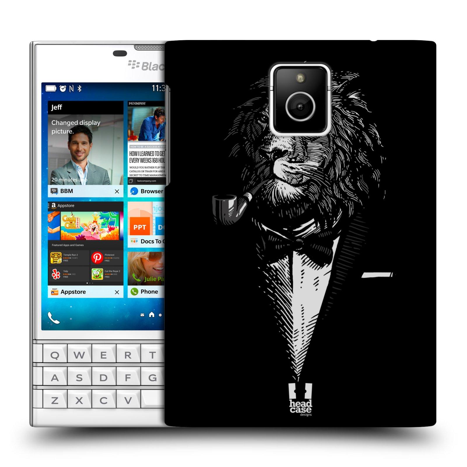 HEAD CASE plastový obal na mobil BlackBerry Passport vzor Zvíře v obleku lev