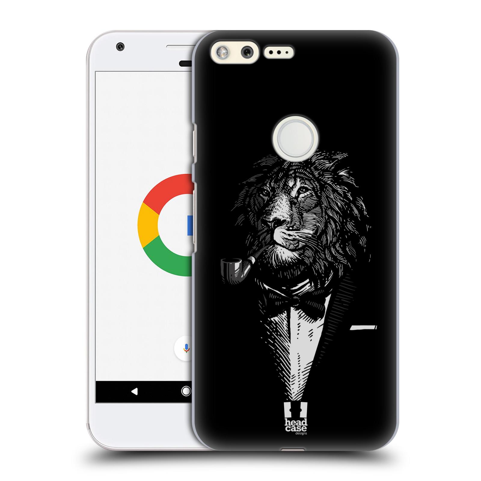 HEAD CASE plastový obal na mobil GOOGLE Pixel vzor Zvíře v obleku lev