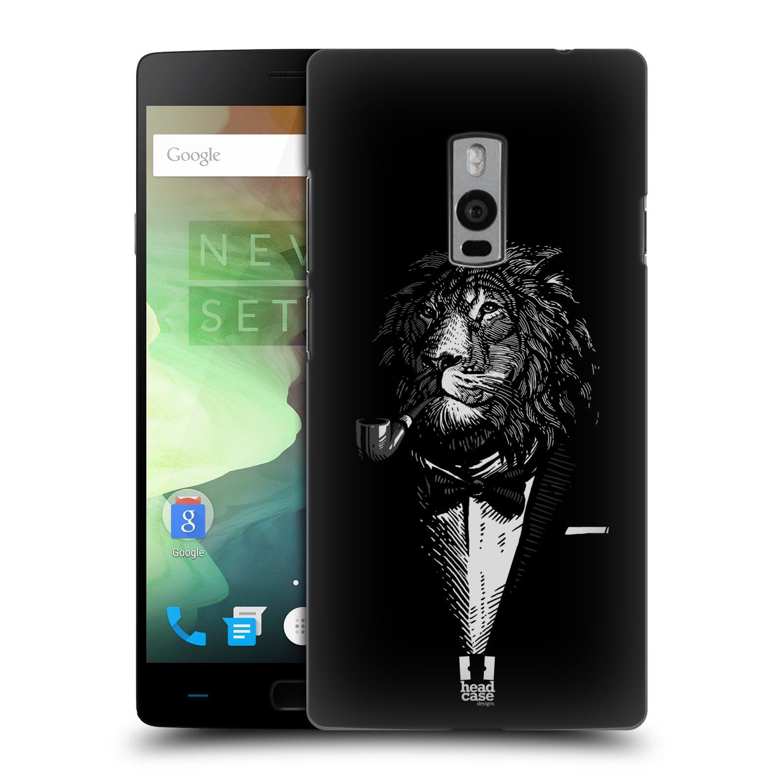 HEAD CASE pevný plastový obal na mobil OnePlus 2  ( TWO ) vzor Zvíře v obleku lev