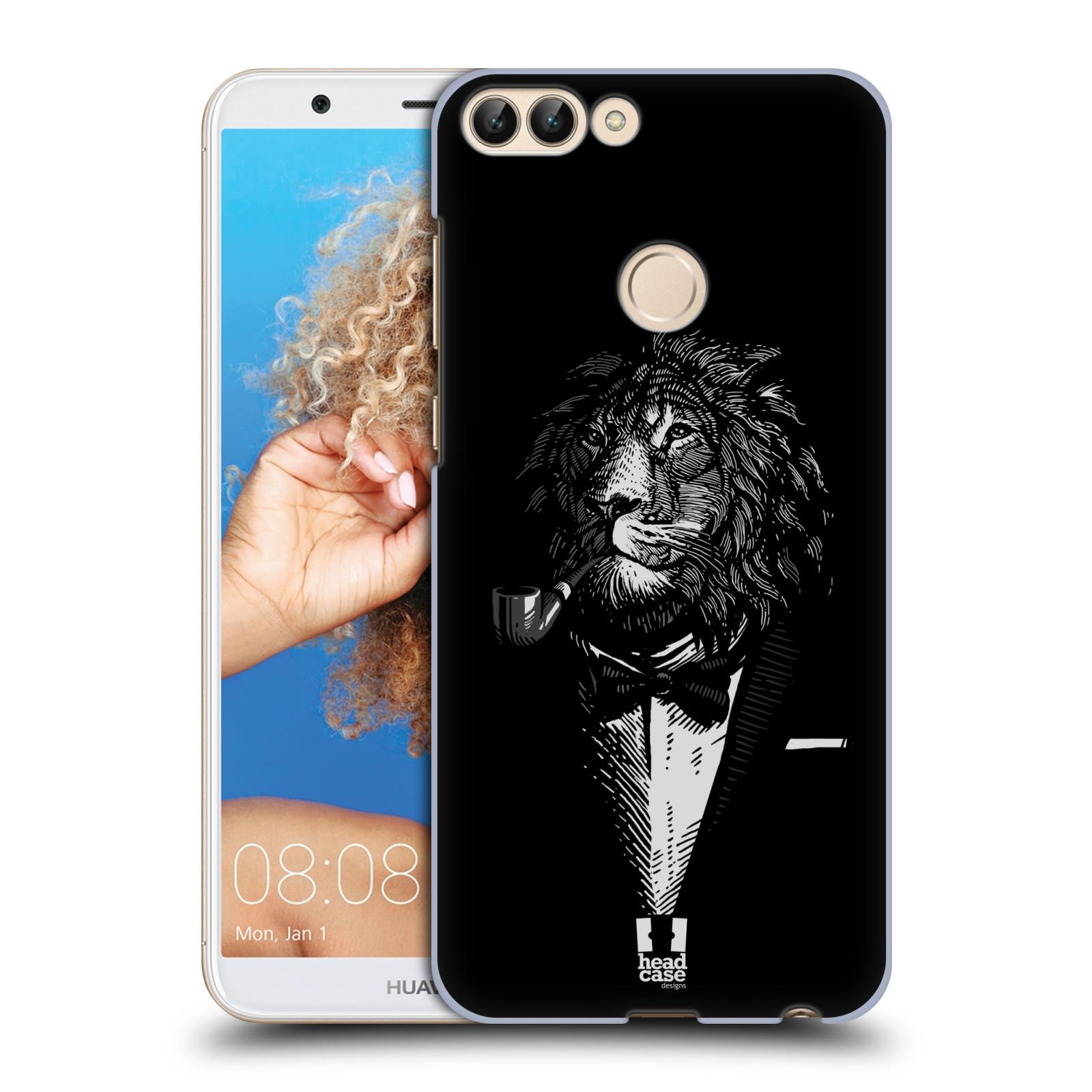 HEAD CASE plastový obal na mobil Huawei P Smart vzor Zvíře v obleku lev