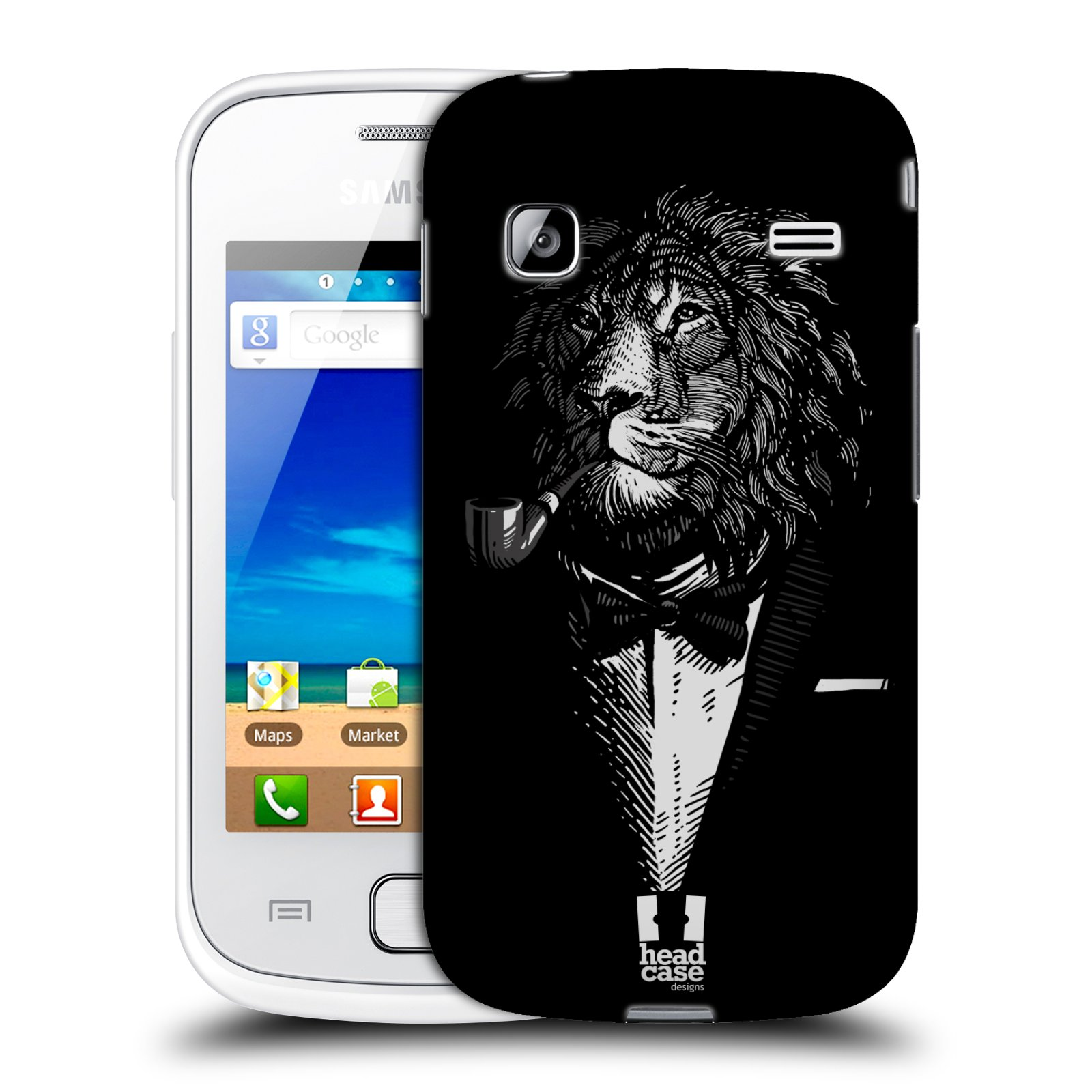 HEAD CASE plastový obal na mobil SAMSUNG GALAXY GIO (S5660) vzor Zvíře v obleku lev