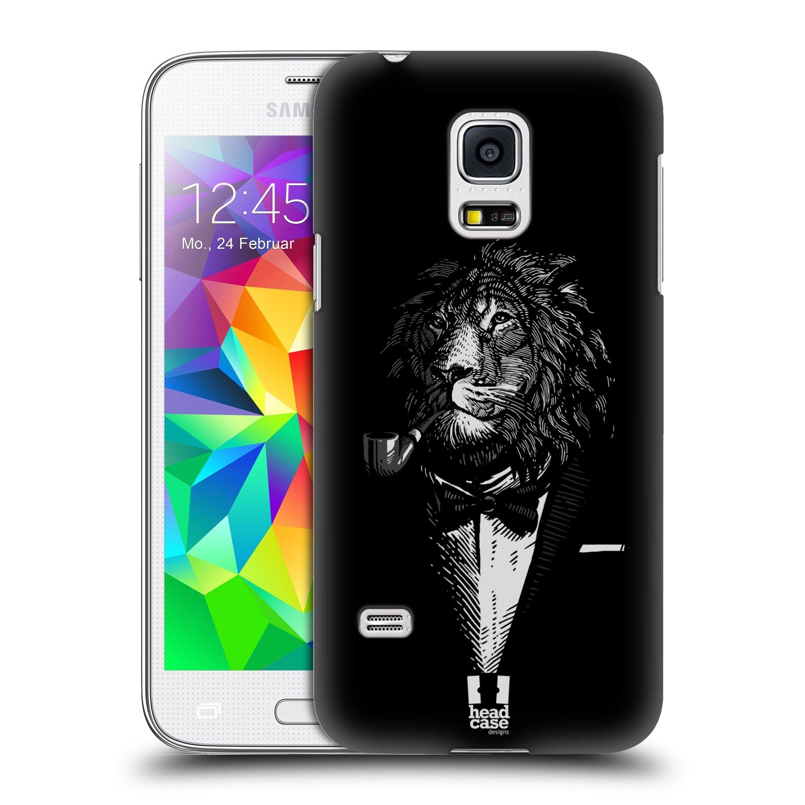 HEAD CASE plastový obal na mobil SAMSUNG Galaxy S5 MINI / S5 MINI DUOS vzor Zvíře v obleku lev