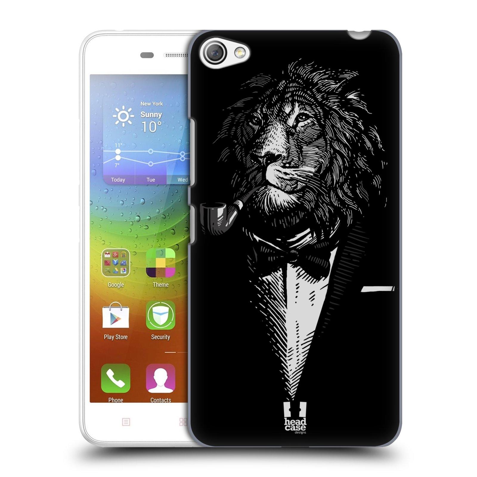 HEAD CASE pevný plastový obal na mobil LENOVO S60 / LENOVO S60 DUAL SIM vzor Zvíře v obleku lev
