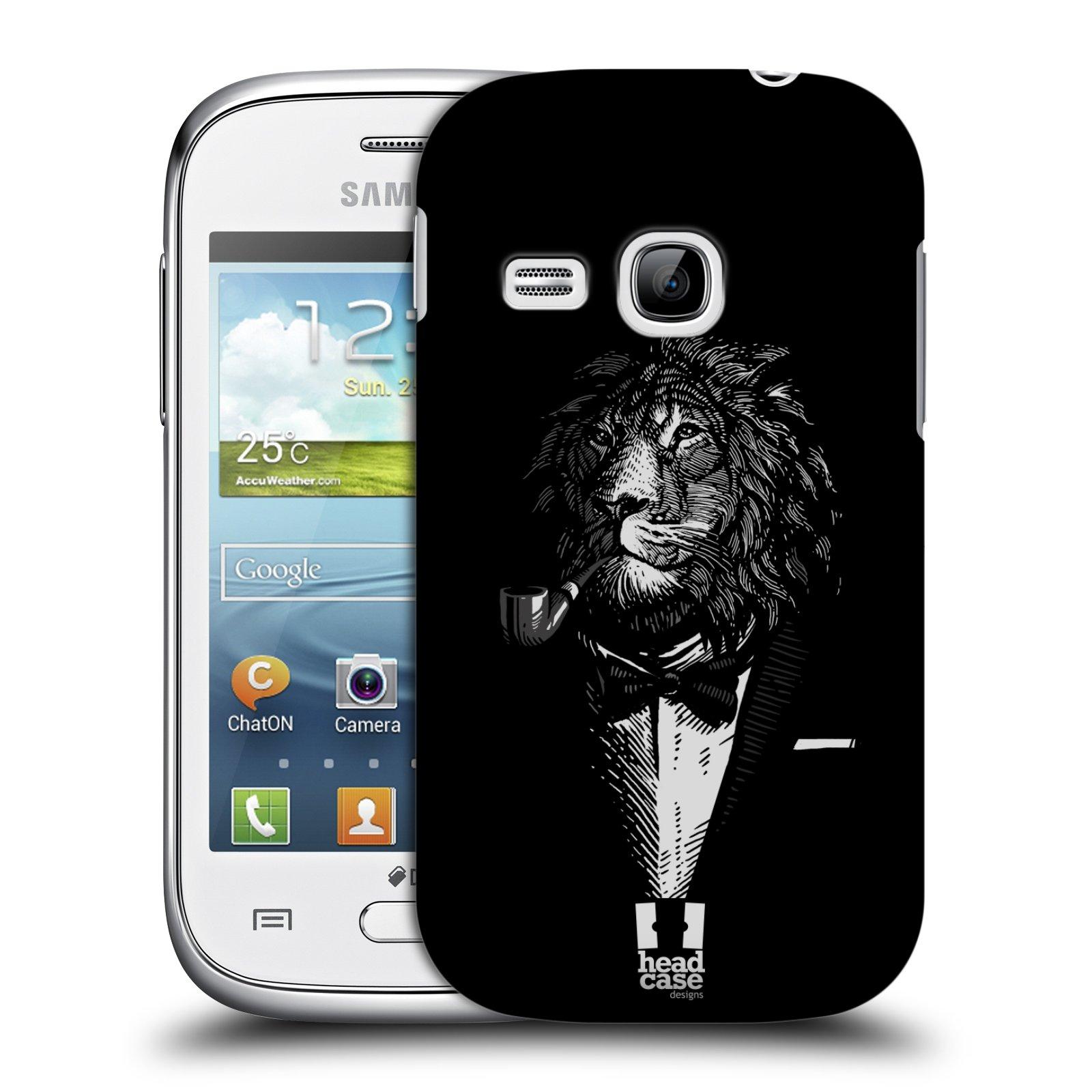 HEAD CASE plastový obal na mobil SAMSUNG Galaxy Young S6310 vzor Zvíře v obleku lev