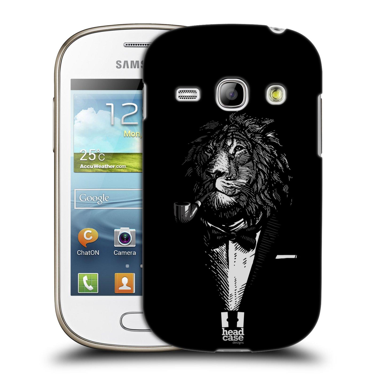 HEAD CASE plastový obal na mobil SAMSUNG GALAXY FAME (S6810) vzor Zvíře v obleku lev
