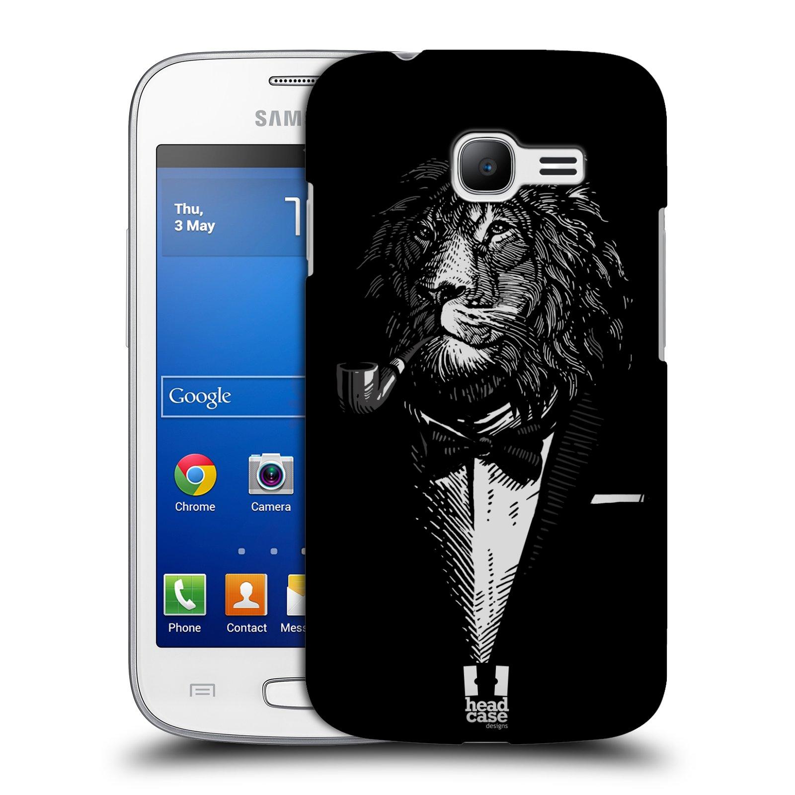 HEAD CASE plastový obal na mobil SAMSUNG GALAXY Star Pro S7260/S7262 DUOS vzor Zvíře v obleku lev