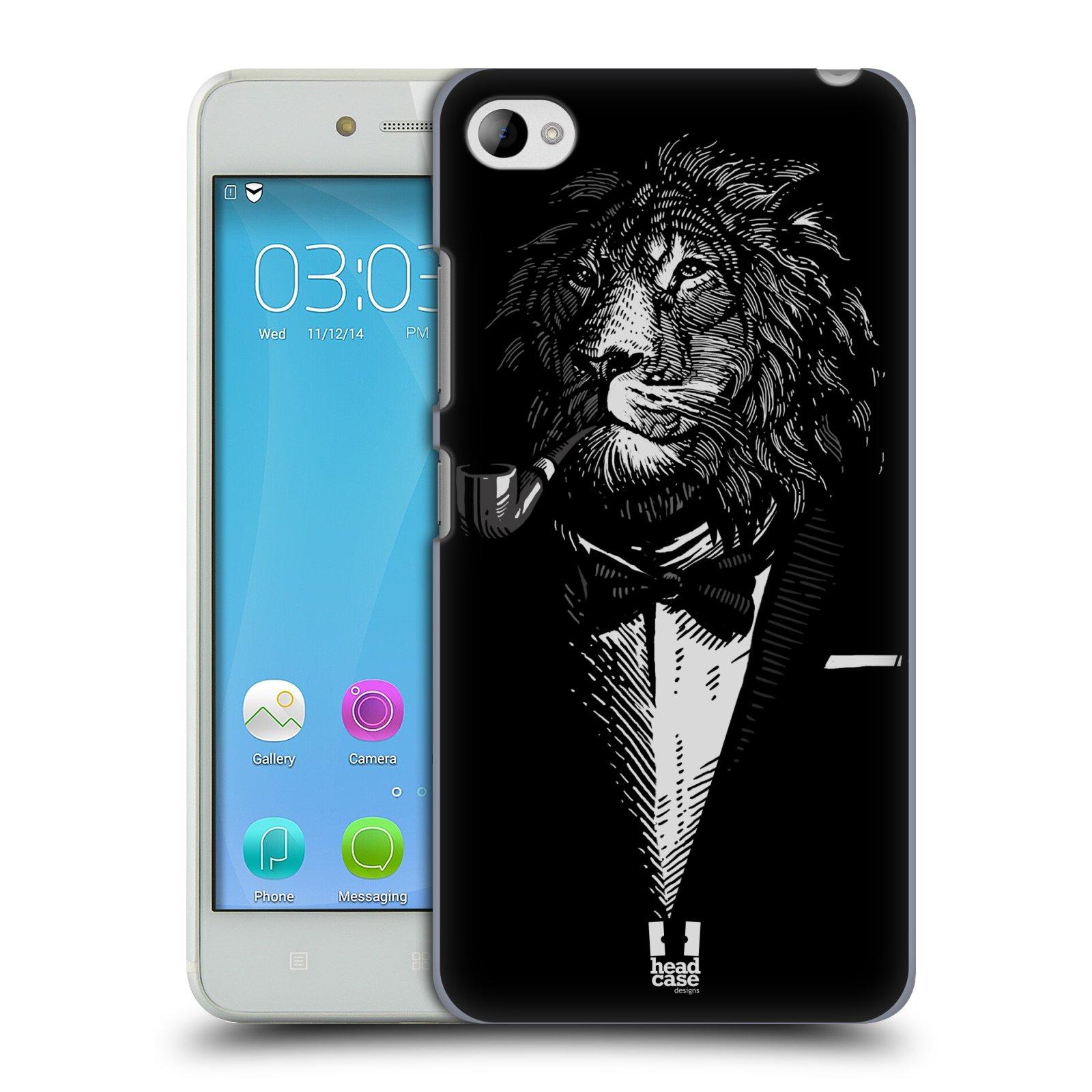 HEAD CASE pevný plastový obal na mobil LENOVO S90 vzor Zvíře v obleku lev