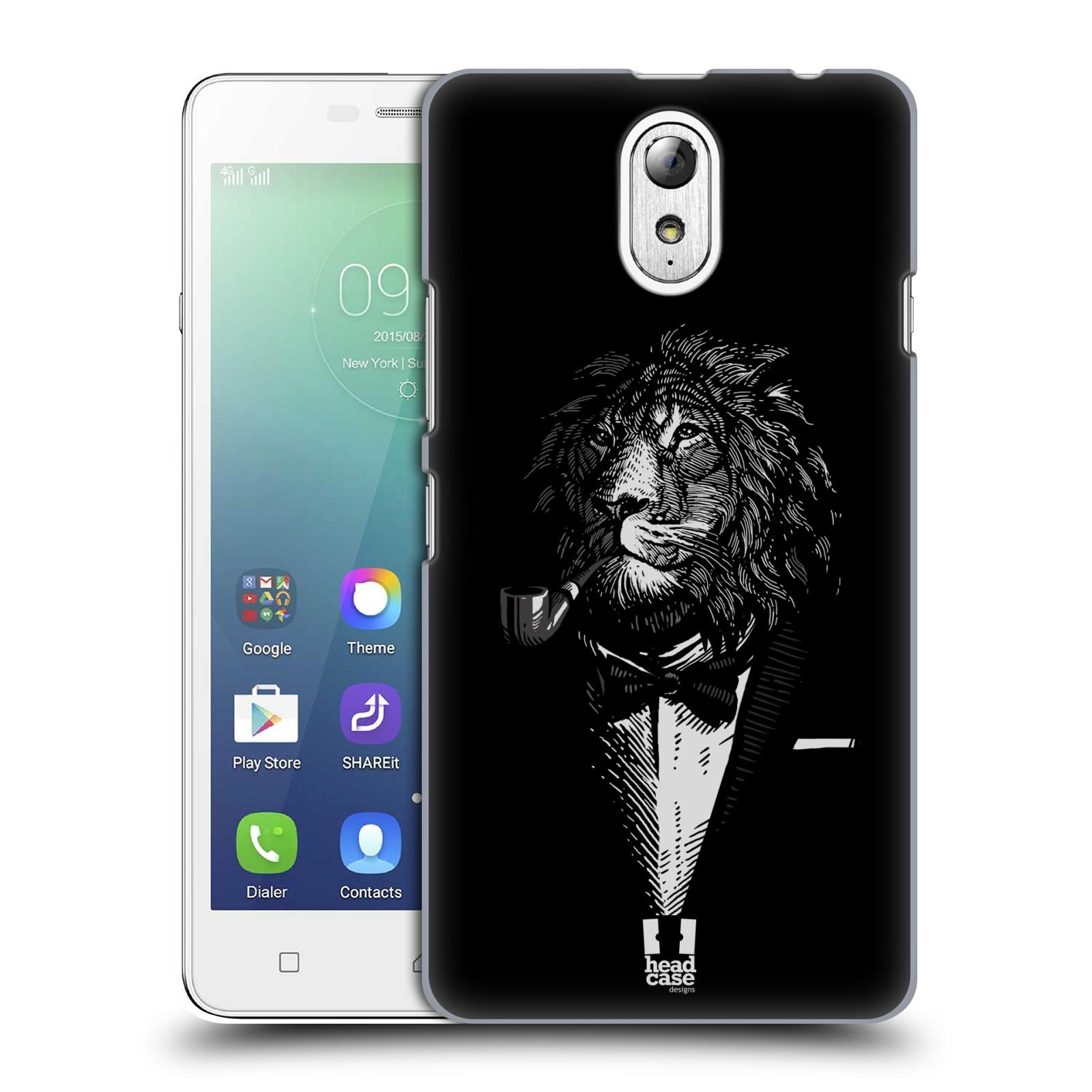 HEAD CASE pevný plastový obal na mobil LENOVO VIBE P1m / LENOVO VIBE p1m DUAL SIM vzor Zvíře v obleku lev