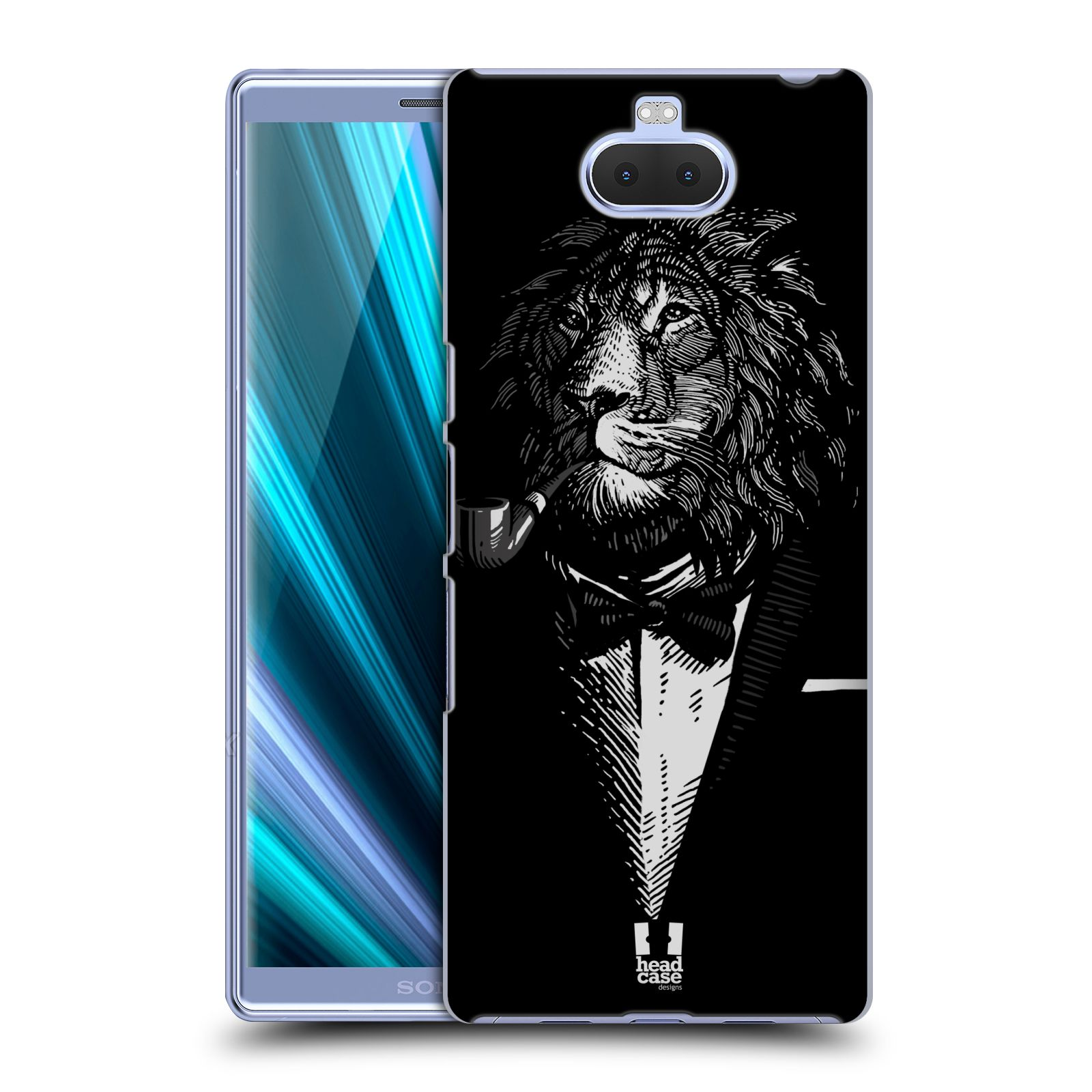 Pouzdro na mobil Sony Xperia 10 - Head Case - vzor Zvíře v obleku lev