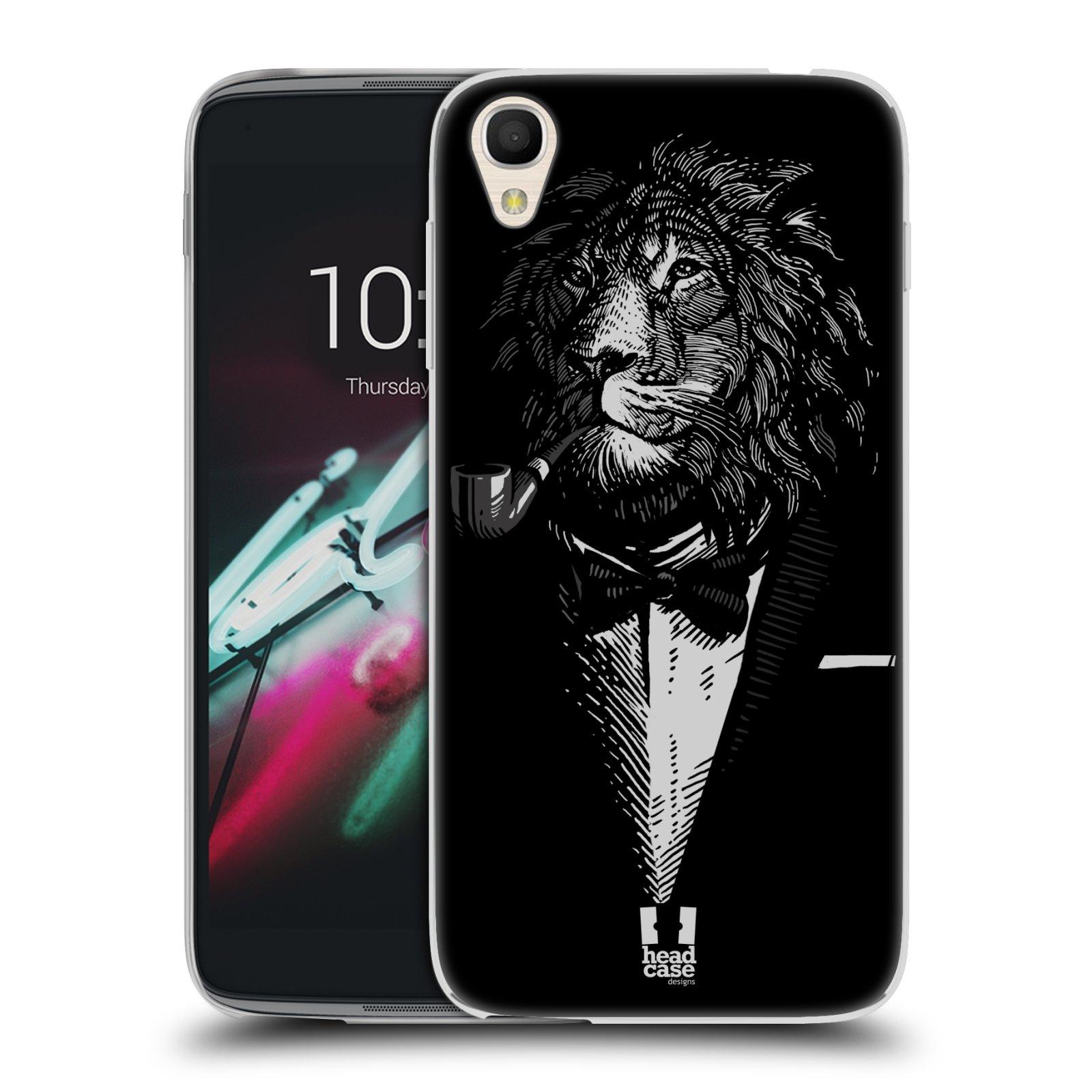 HEAD CASE silikonový obal na mobil Alcatel Idol 3 OT-6039Y (4.7) vzor Zvíře v obleku lev