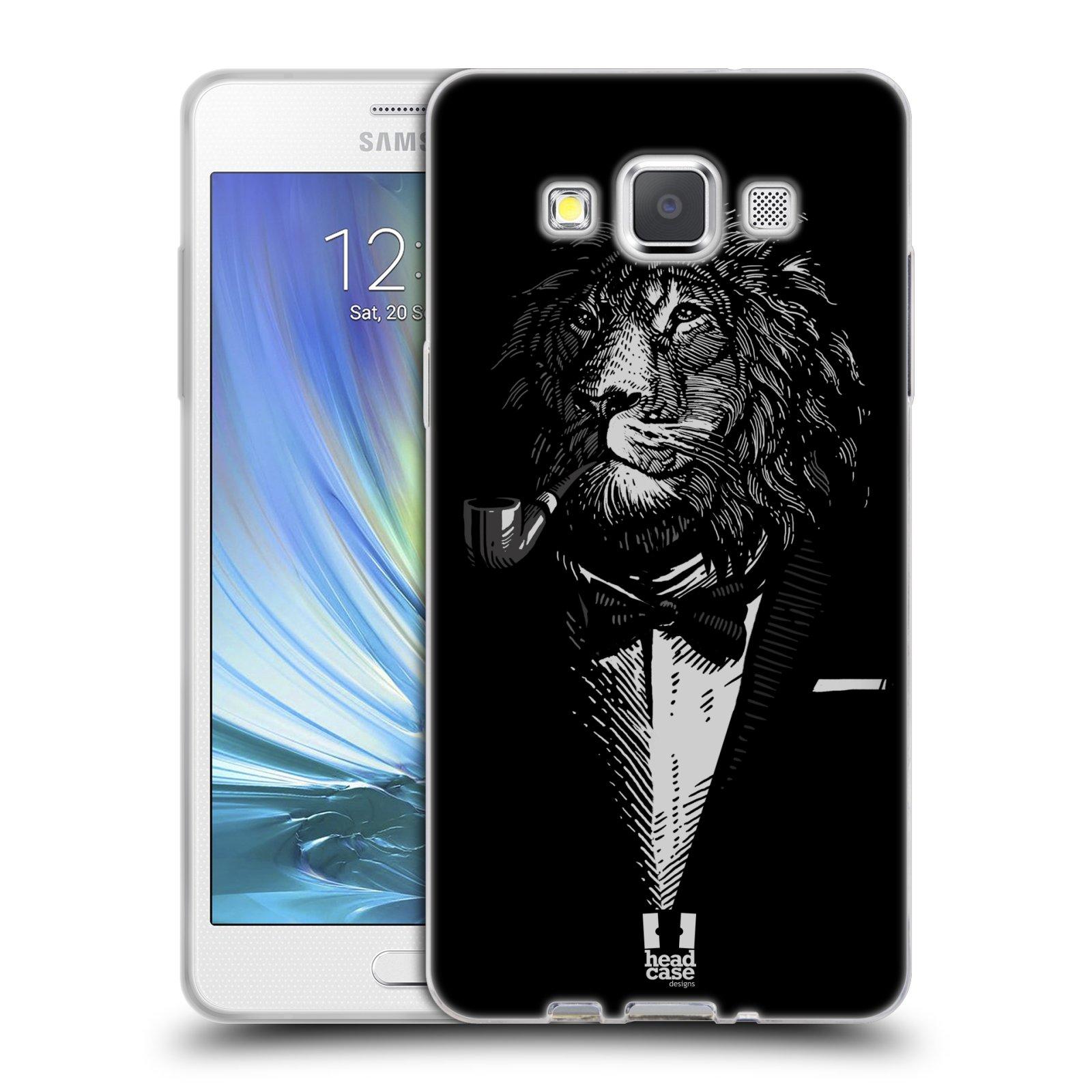 HEAD CASE silikonový obal na mobil Samsung Galaxy A5 vzor Zvíře v obleku lev