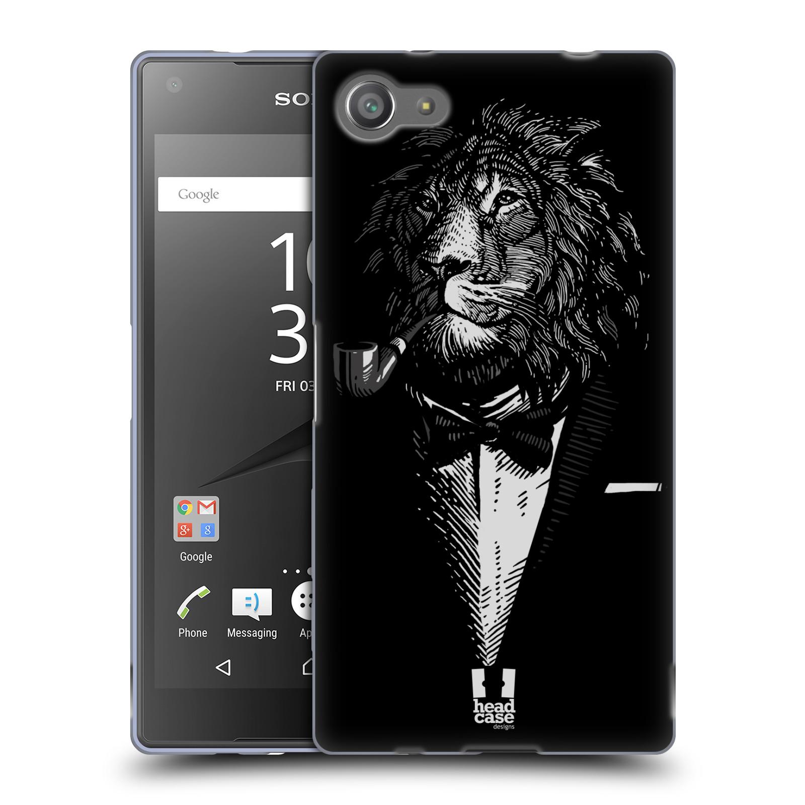 HEAD CASE silikonový obal na mobil Sony Xperia Z5 COMPACT vzor Zvíře v obleku lev