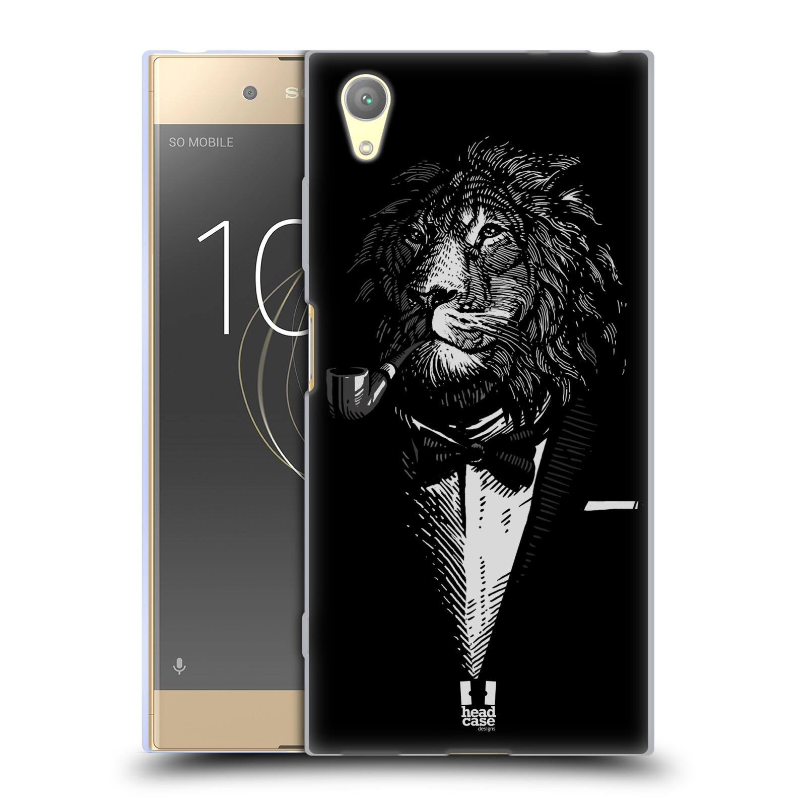 HEAD CASE silikonový obal na mobil Sony Xperia XA1 PLUS vzor Zvíře v obleku lev